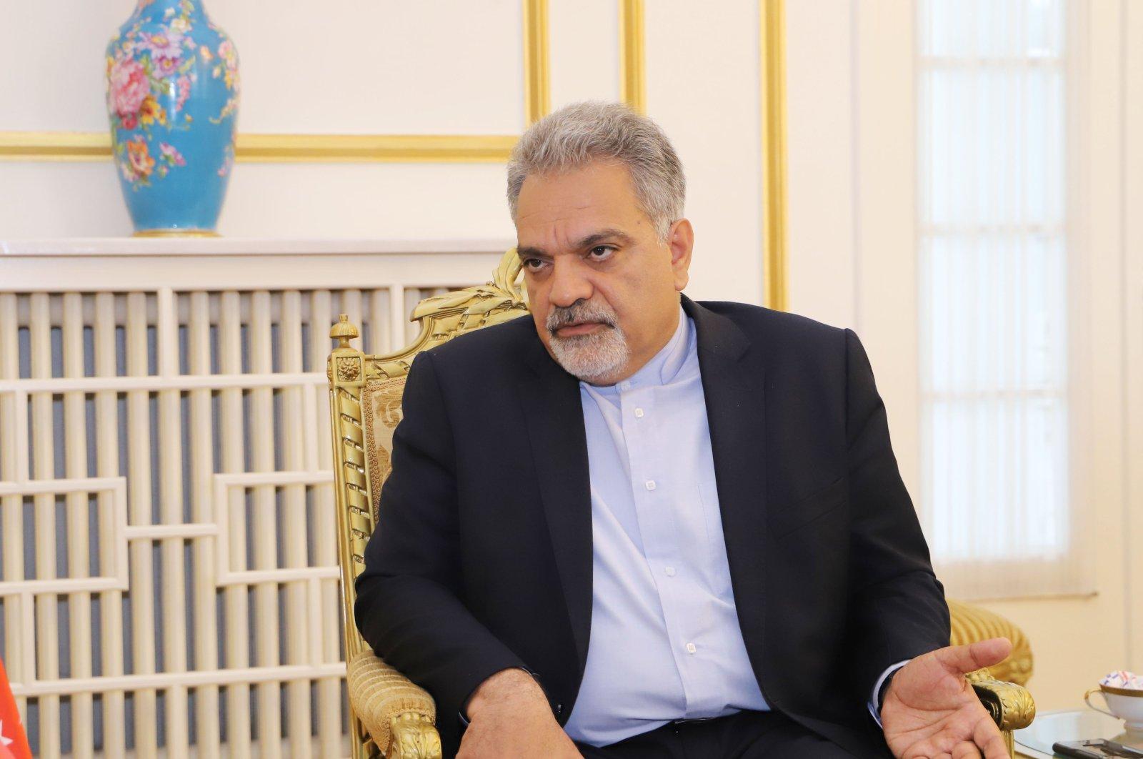 Iranian Ambassador to Turkey Mohammad Farazmand during an interview with Daily Sabah in Ankara, May 4, 2019.