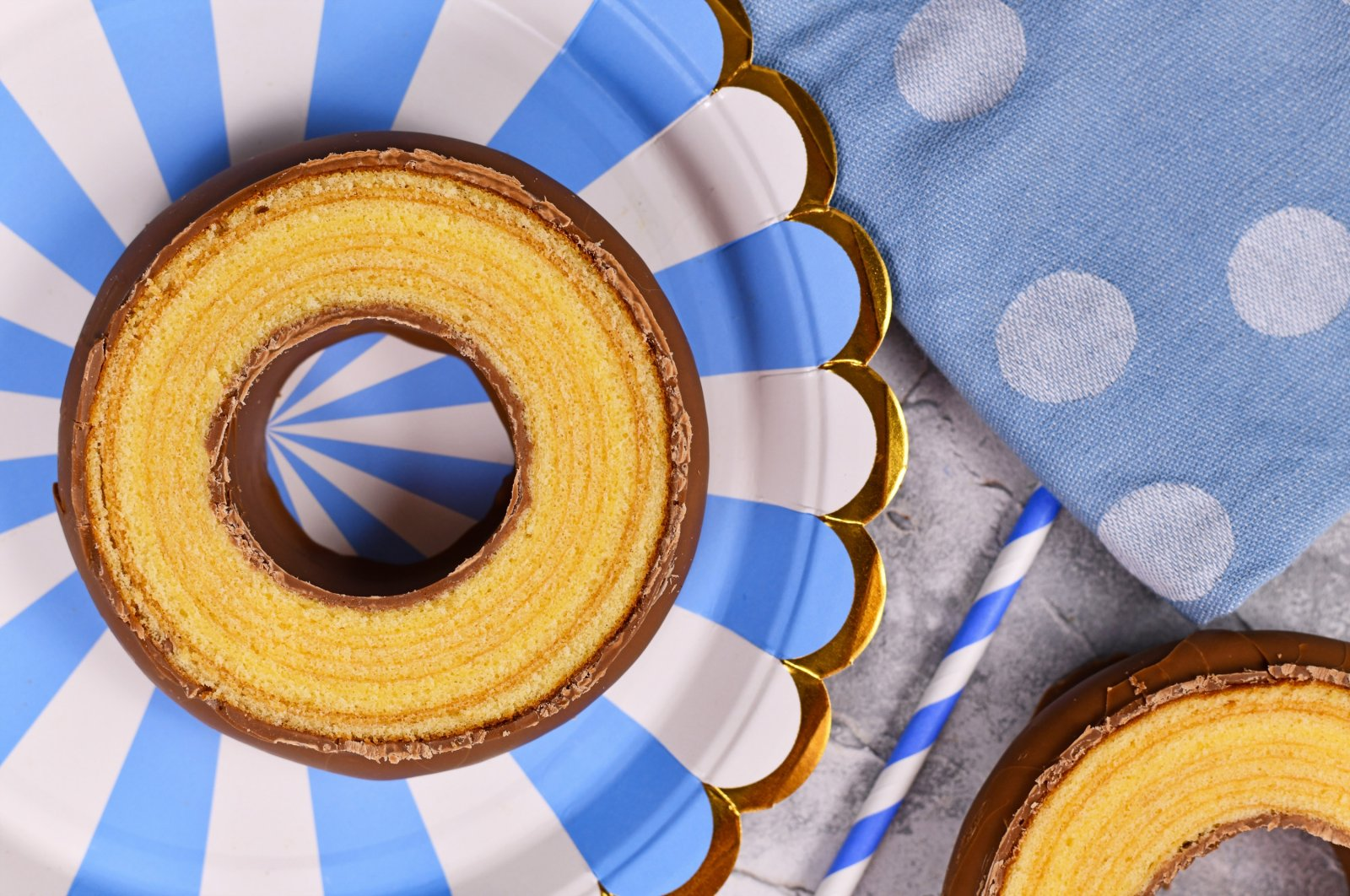 """The traditional German-layered winter cake """"Baumkuchen"""" is usually served glazed with chocolate. (Shutterstock Photo)"""