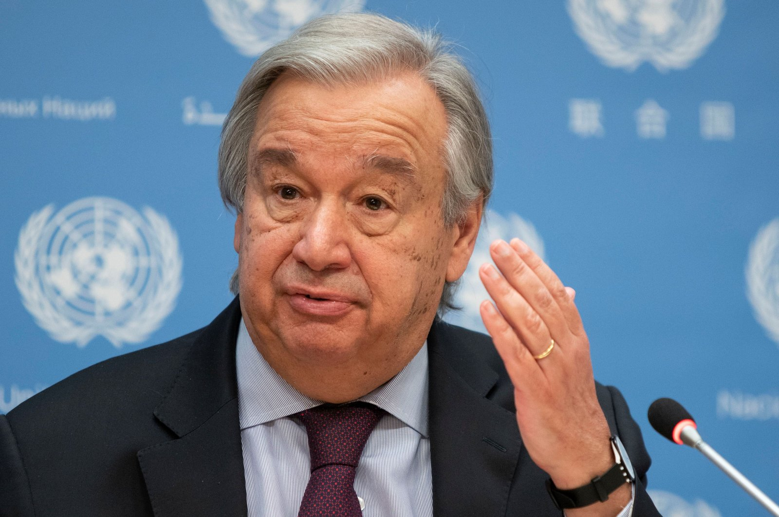 United Nations Secretary-General Antonio Guterres speaks during a news conference at U.N. headquarters in New York City, New York, U.S., Nov. 20, 2020. (Reuters Photo)