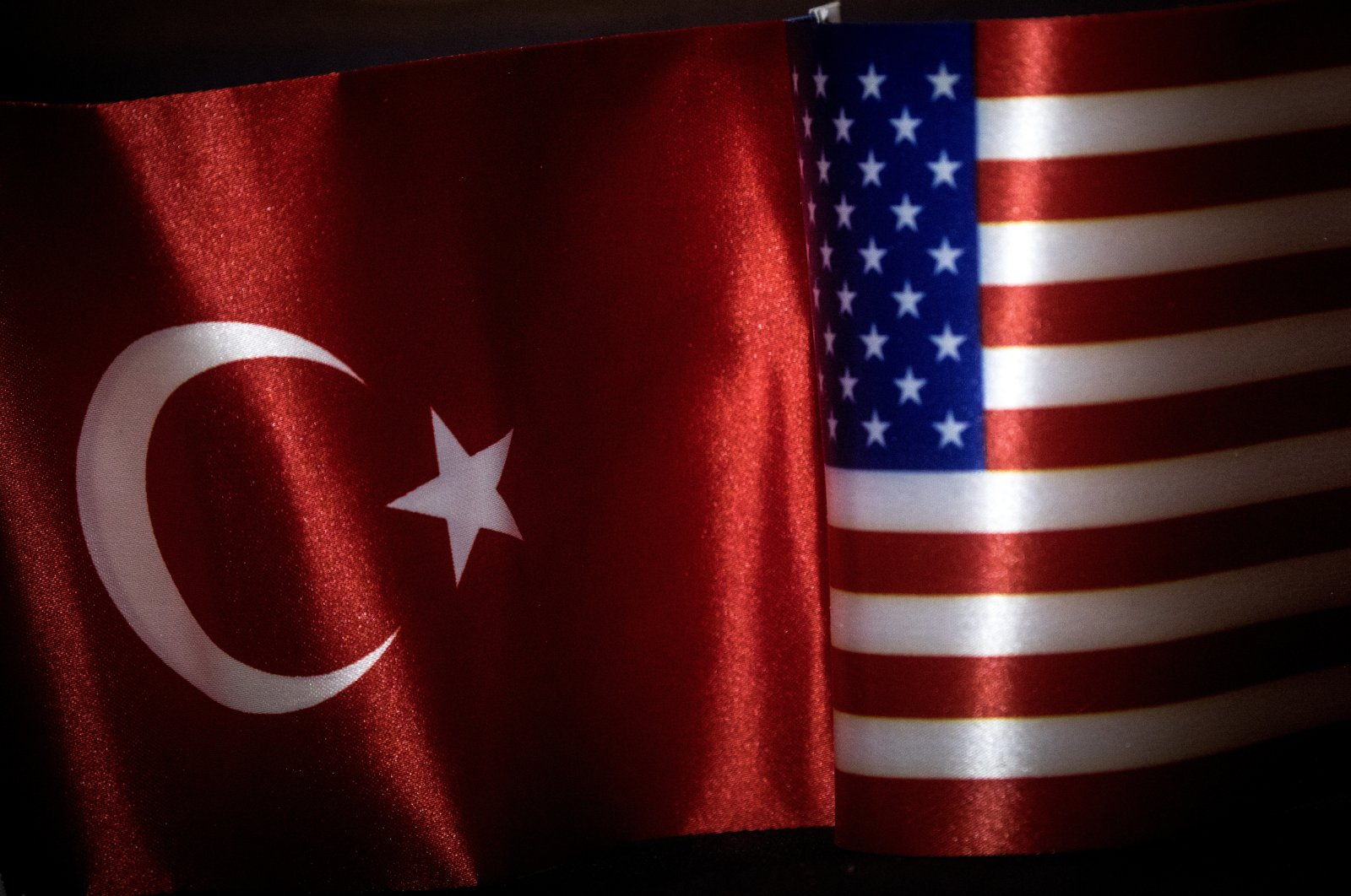 The flags of Turkey and the U.S. fly side by side in Istanbul, Turkey, Feb. 14, 2018. (Photo by Getty Images)