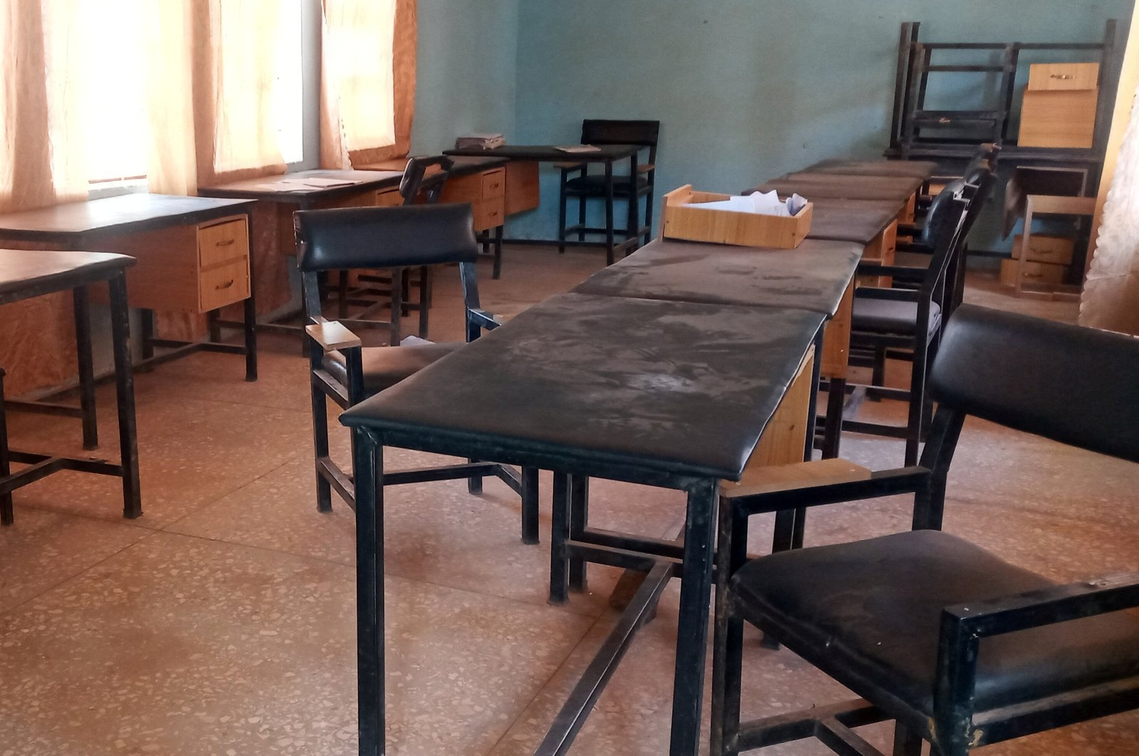 A classroom at the Government Science secondary school in Kankara district remains empty after an attack by armed bandits, in northwestern Katsina State, Nigeria, Dec. 12, 2020. (Reuters Photo)