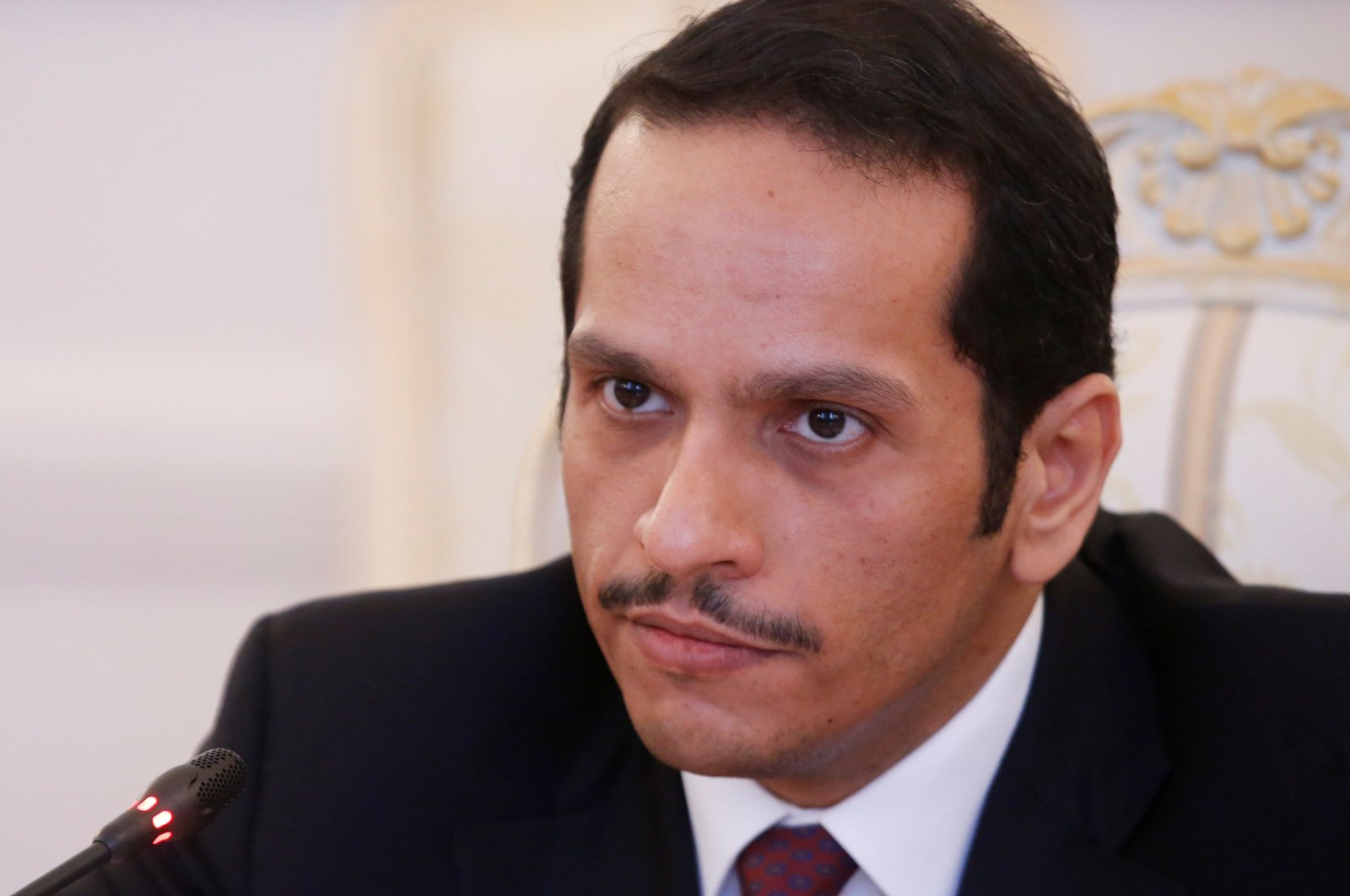 Qatari Foreign Minister Sheikh Mohammed bin Abdulrahman bin Jassim Al Thani attends a meeting with Russian Foreign Minister Sergei Lavrov in Moscow, Russia, April 15, 2017. (Reuters File Photo)