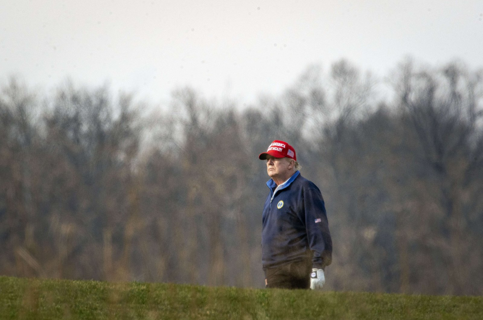 U.S. President Donald Trump golfs at Trump National Golf Club on December 13, 2020 in Sterling, Virginia. (AFP Photo)