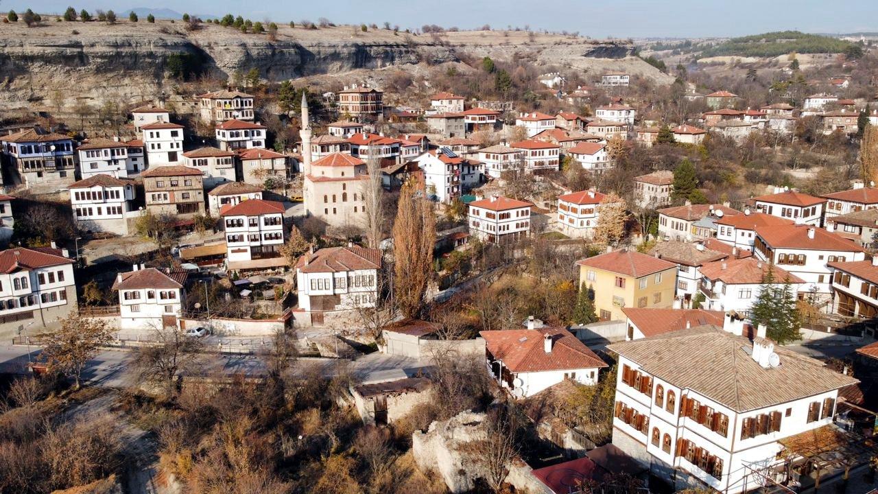 Historical Ottoman-era houses in Safranbolu, Karabük, northern Turkey, Dec. 14, 2020. (AA PHOTO)