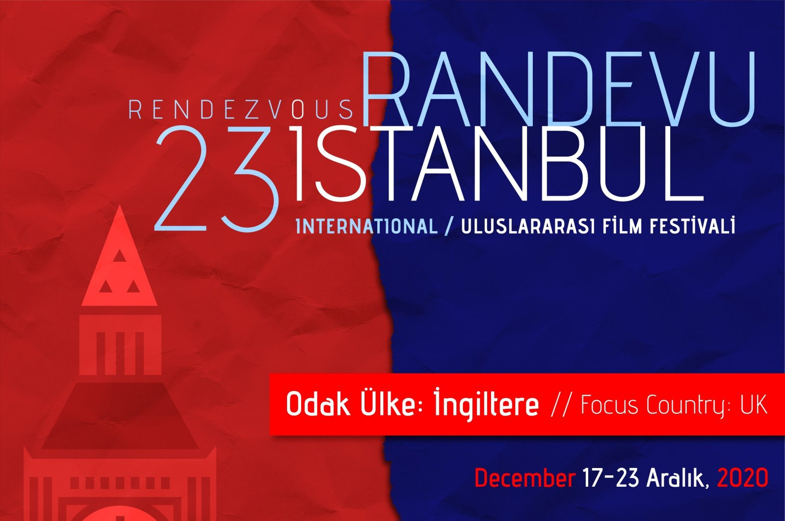 A poster of the 23rd Rendezvous Istanbul International Film Festival.