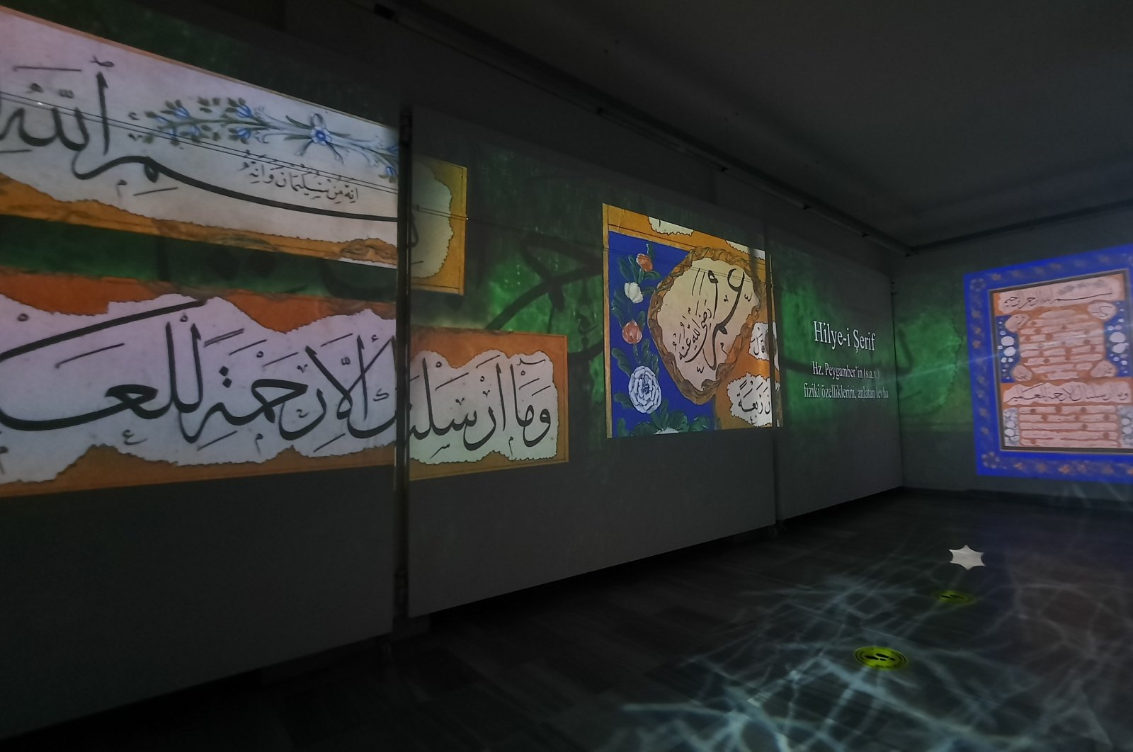 A view of the exhibition at Marmara University's Sultanahmet Campus, Istanbul, Dec. 15, 2020. (İHA PHOTO)