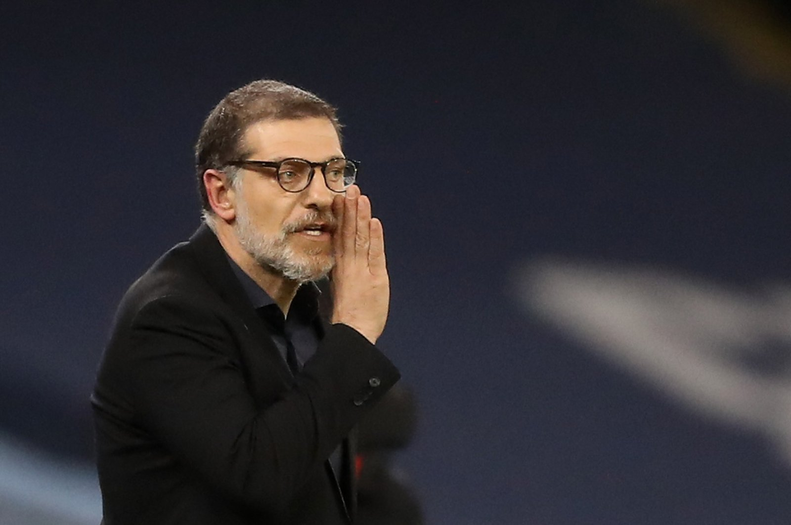 West Bromwich Albion manager Slaven Bilic reacts during a Premier League match against Manchester City at the Etihad Stadium in Manchester, Britain, Dec. 15, 2020. (Reuters Photo)