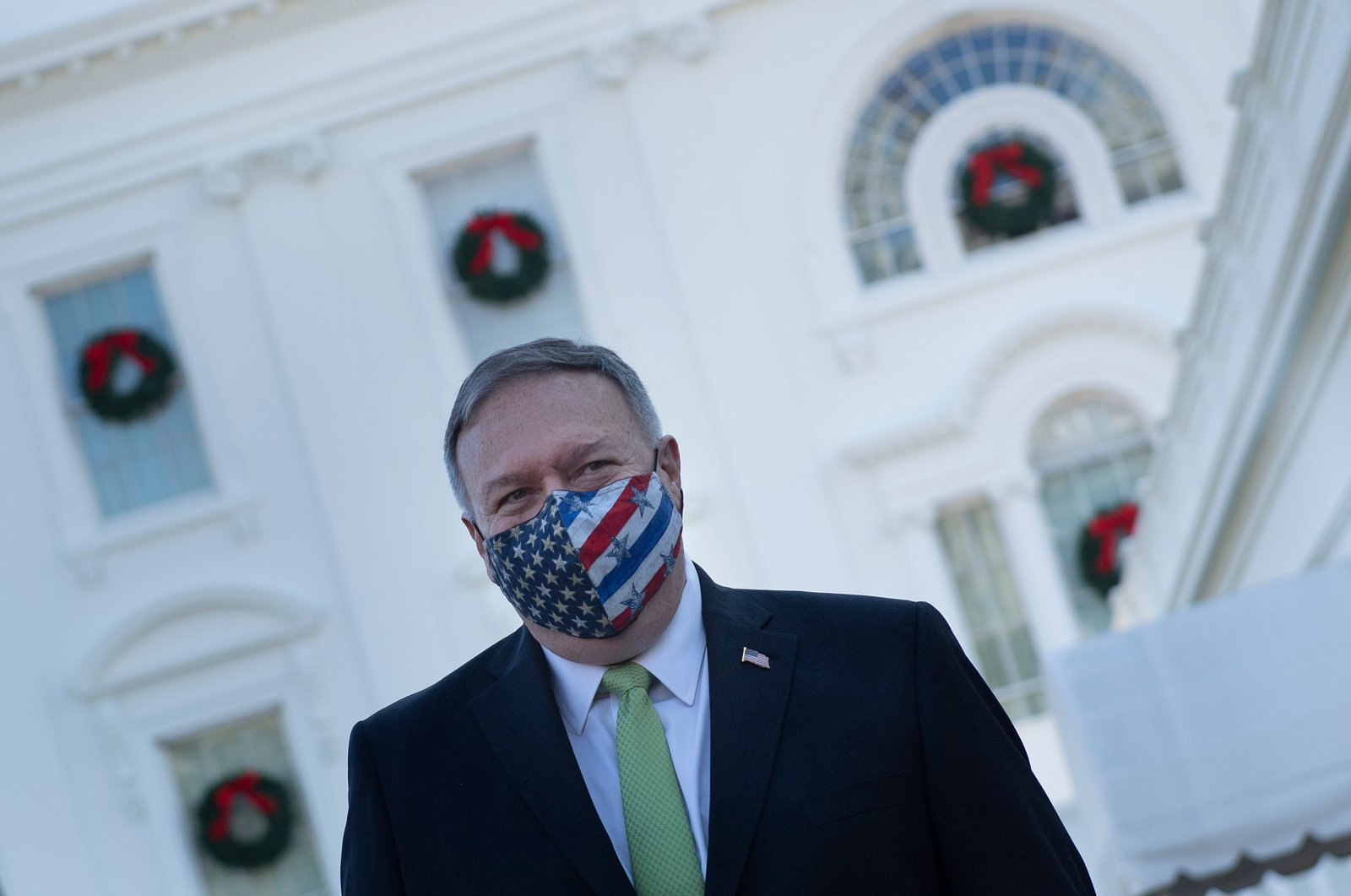 In this file photo, U.S. Secretary of State Mike Pompeo leaves the White House after visiting with the Trump family in Washington, D.C., on Dec. 11, 2020. (AFP Photo)