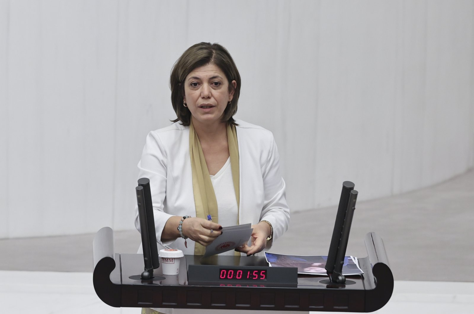 HDP Group Deputy Chairperson Meral Danış Beştaş speaks at the Turkish Parliament on Dec. 14, 2020. (AA Photo)