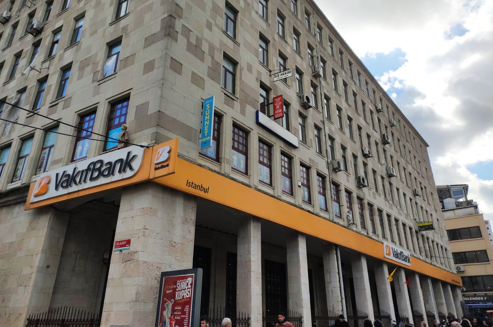 Vakifbank's Eminönü branch in Istanbul, Turkey, May 2020. (Shutterstock Photo)