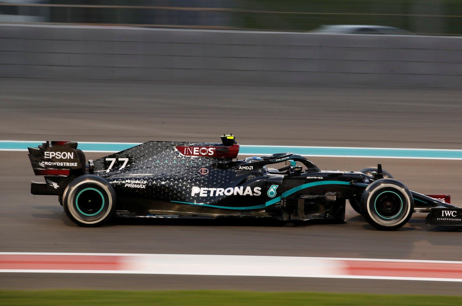 Mercedes' Valtteri Bottas in action during the Abu Dhabi Grand Prix, Yas Marina Circuit, Abu Dhabi, Dec. 13, 2020. (Reuters Photo)