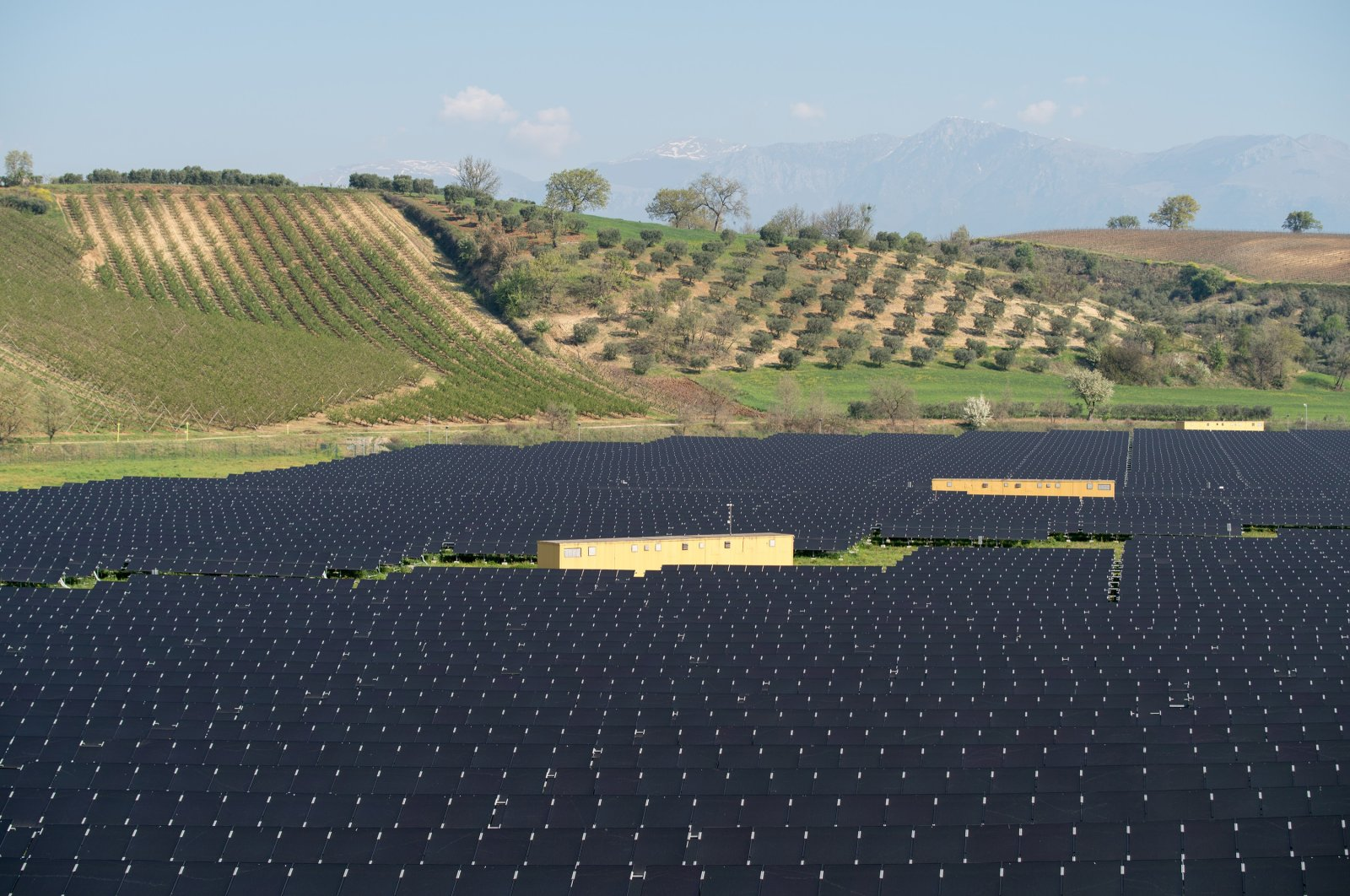 Solar panels seen in a rural area in this undated file photo, Sila National Park, Calabria region, Italy. (Shutterstock Photo by Dmytro Surkov)
