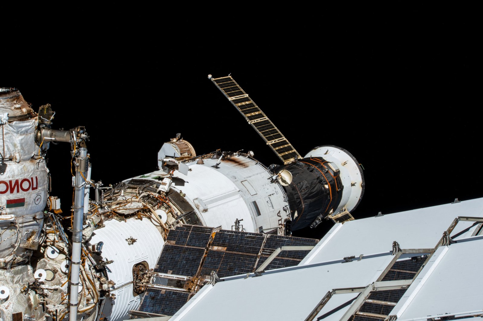 The Russian segment of the International Space Station, Nov. 13, 2020. (Reuters Photo)