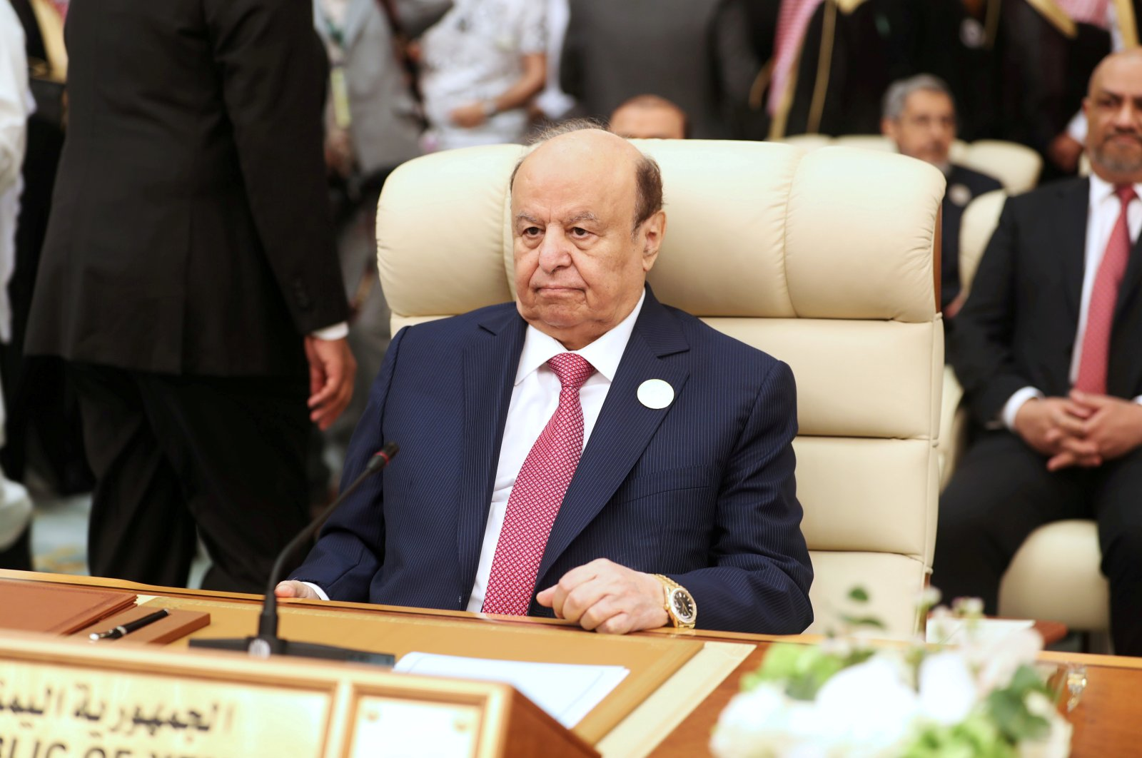 Yemeni President Abed Rabbo Mansour Hadi attends the Arab summit in Mecca, Saudi Arabia, May 31, 2019. (Reuters Photo)