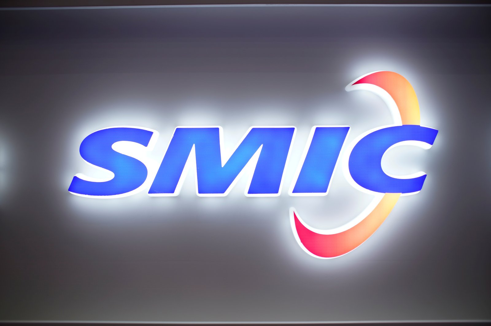A logo of Semiconductor Manufacturing International Corporation (SMIC) is seen at China International Semiconductor Expo (IC China 2020)  in Shanghai, China Oct. 14, 2020. (Reuters Photo)