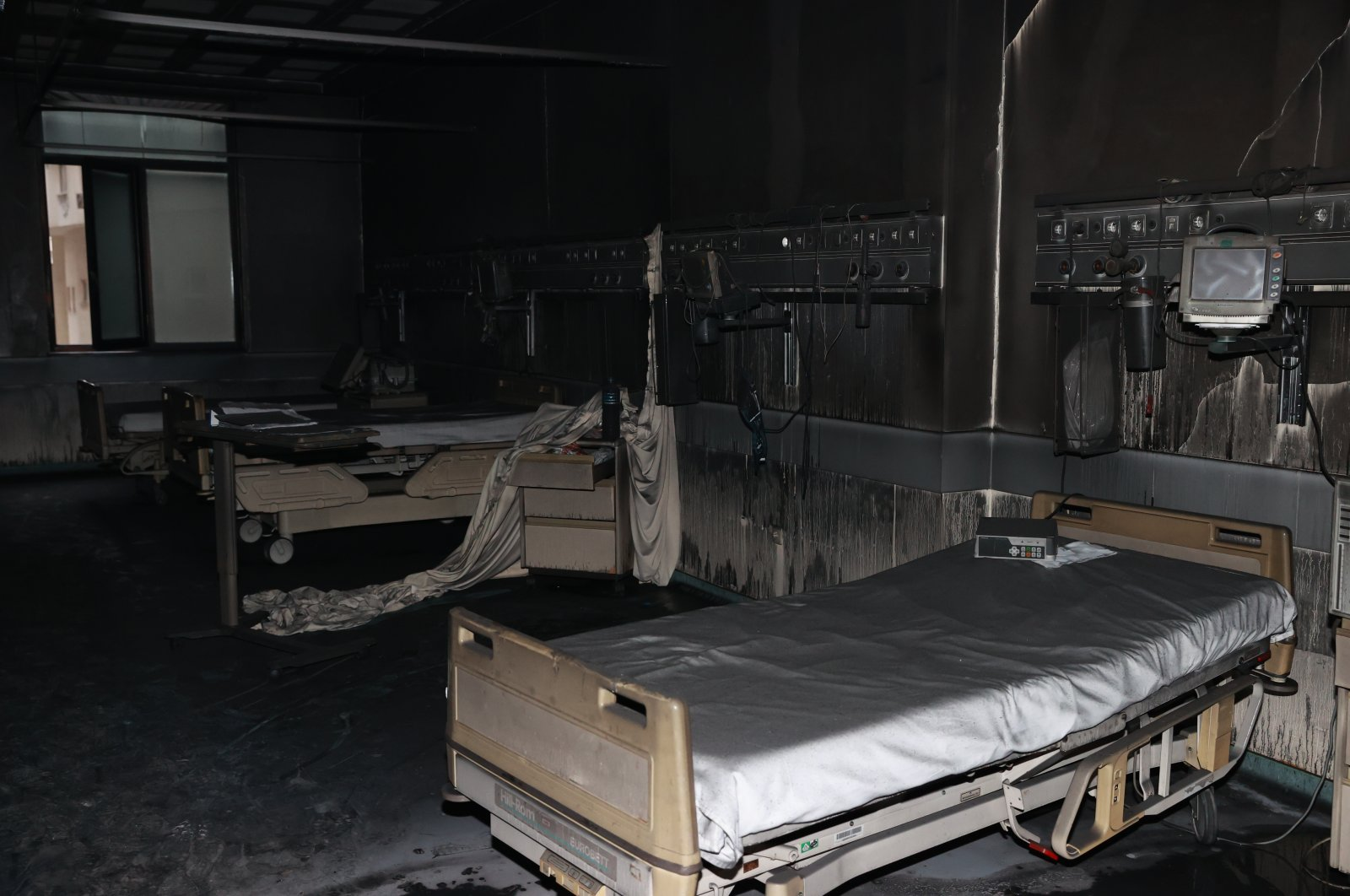 A view of the intensive care unit after the fire in Gaziantep, southern Turkey, Dec. 19, 2020. (AA PHOTO)