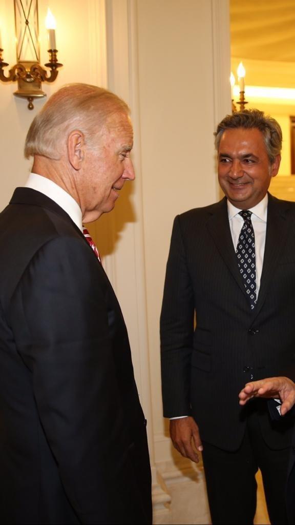 U.S. President-elect Joe Biden and Turkey-U.S. Business Council (TAIK) Chairperson Mehmet Ali Yalçındağ are seen in this undated photo.