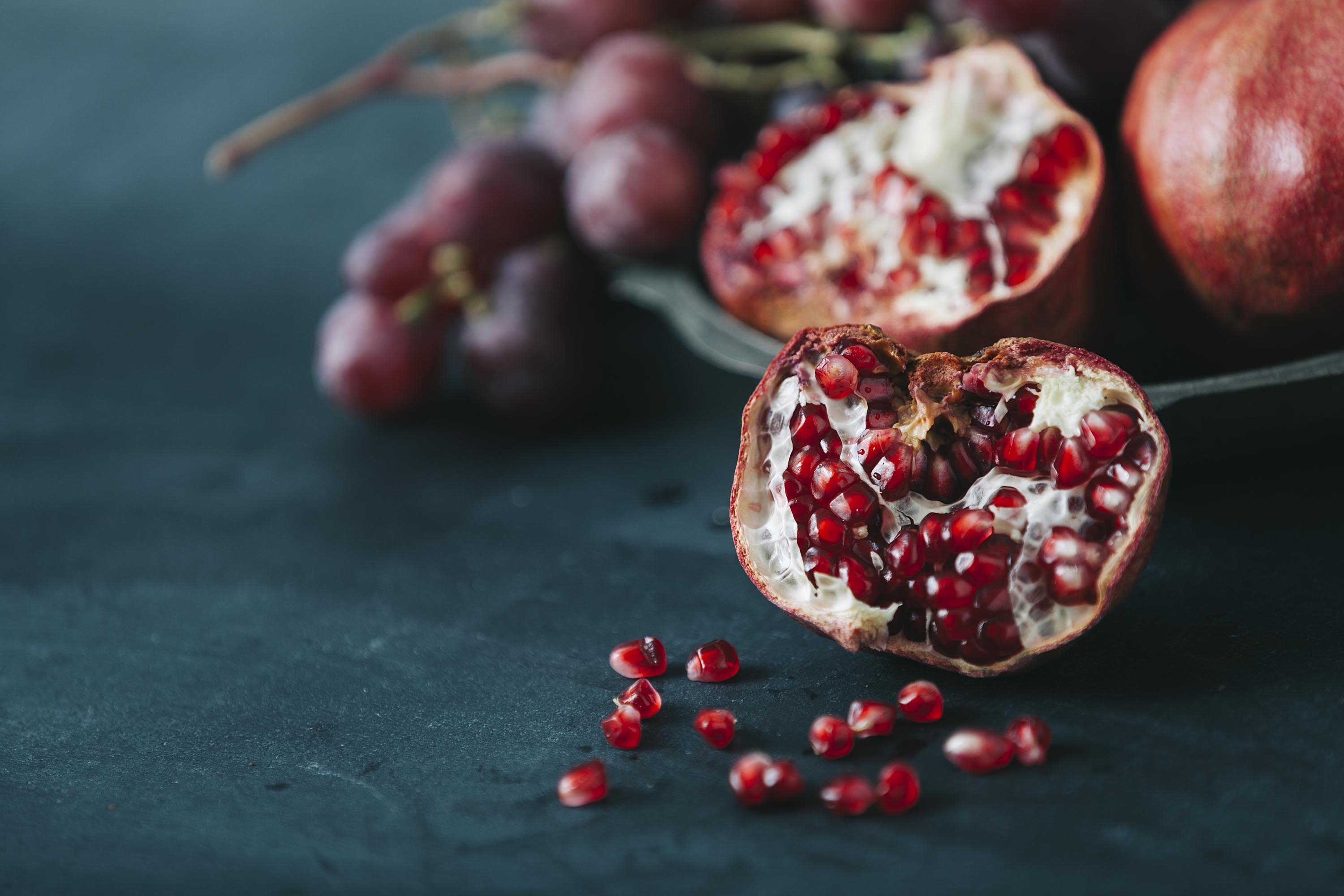 Pomegranate smashing in front of your house or hanging a couple above your door is considered good luck. (Shutterstock Photo)
