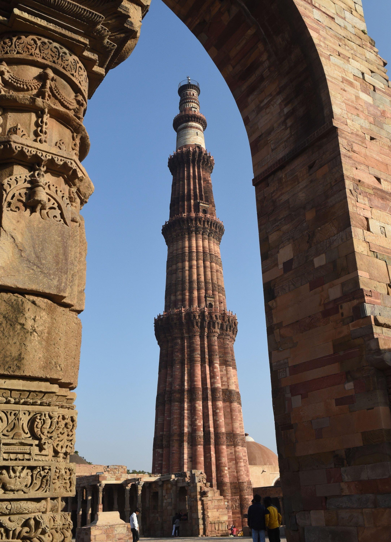 A view of the Qutb Minar in New Delhi,India, on Dec. 18, 2020. (AA PHOTO)