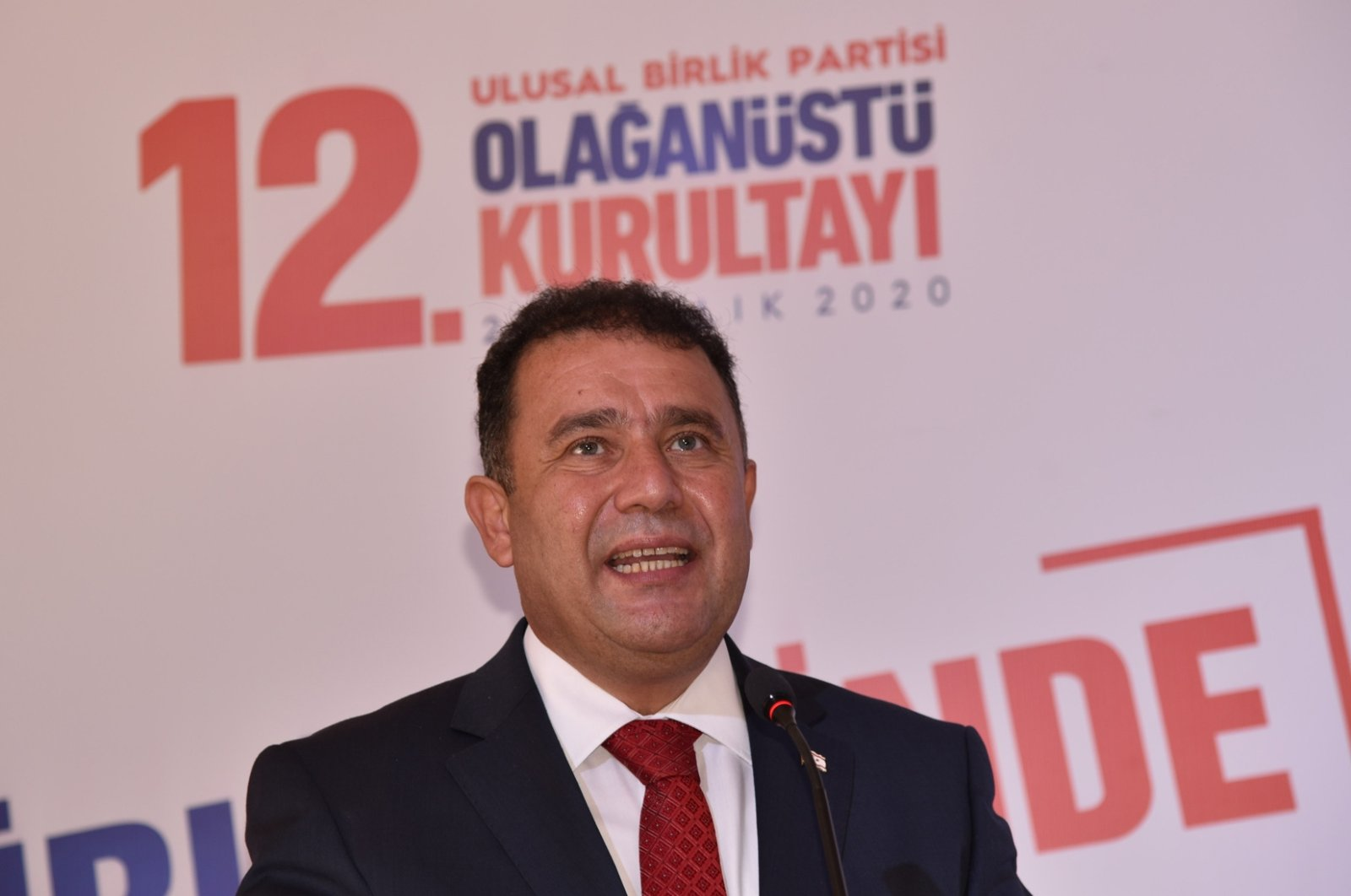 Ersan Saner, prime minister of the Turkish Republic of Northern Cyprus (TRNC), became head of the National Unity Party (UBP) on Dec. 20, 2020. (AA Photo)