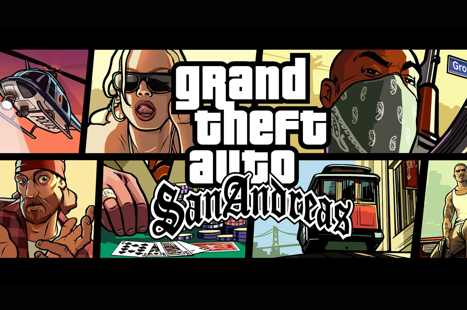 The official poster of the game GTA: San Andreas. (Courtesy of Rockstar Games)