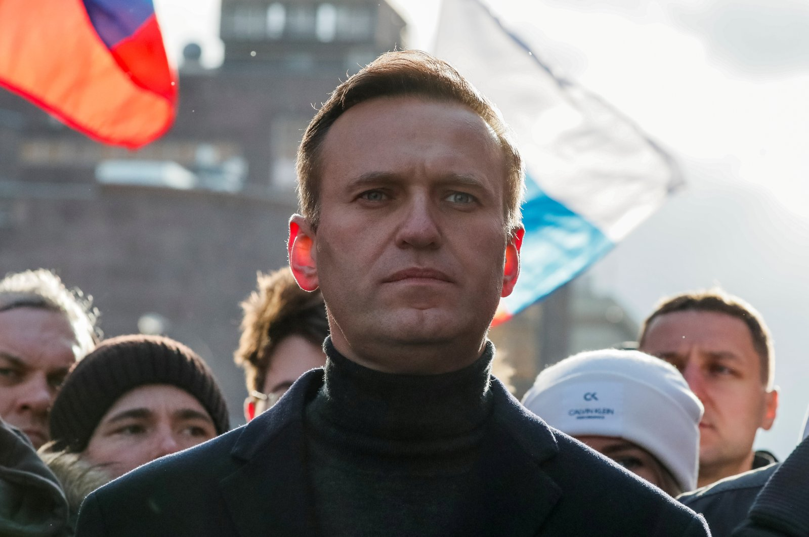 Russian opposition politician Alexei Navalny takes part in a rally in Moscow, Russia, Feb. 29, 2020. (Reuters Photo)