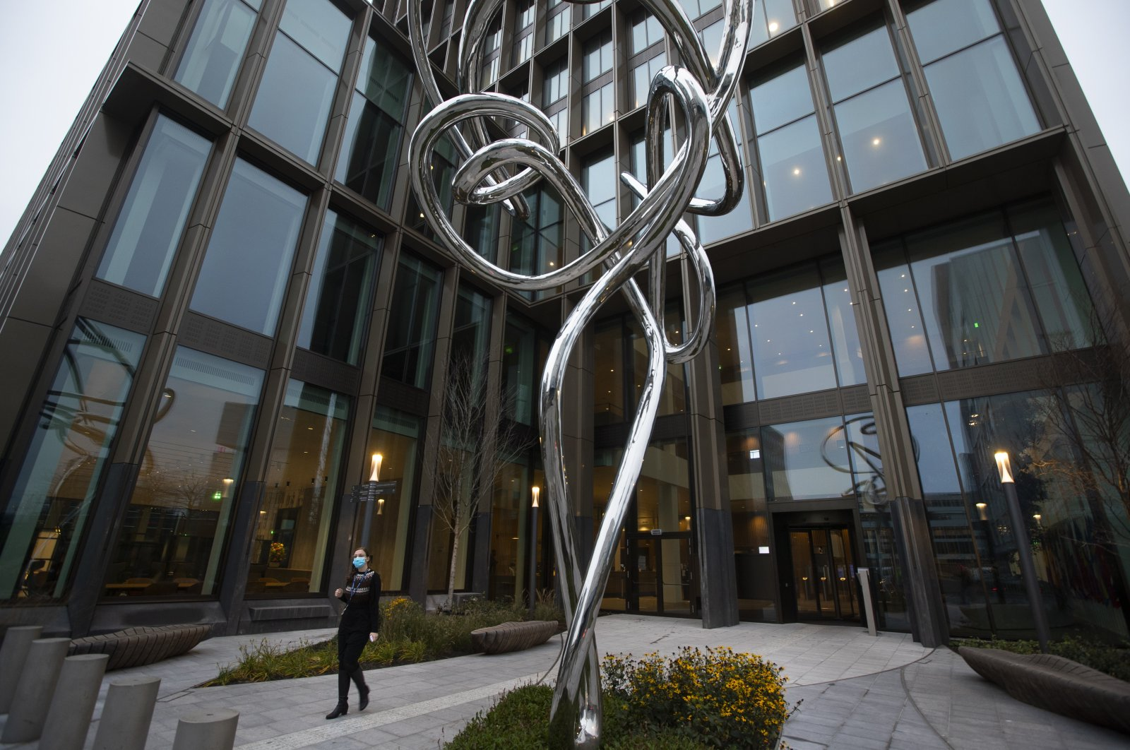 A view of the European Medicines Agency (EMA) building, where the human medicines committee held an exceptional, fully virtual meeting to conclude the evaluation of the Pfizer-BioNTech COVID-19 vaccine, in Amsterdam, the Netherlands, Dec. 21, 2020. (AP Photo)