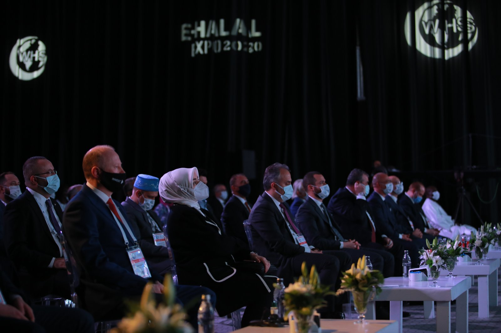 The 6th World Halal Summit started at the Pullman Convention Center, Istanbul, Turkey, Dec. 21, 2020. (AA Photo)