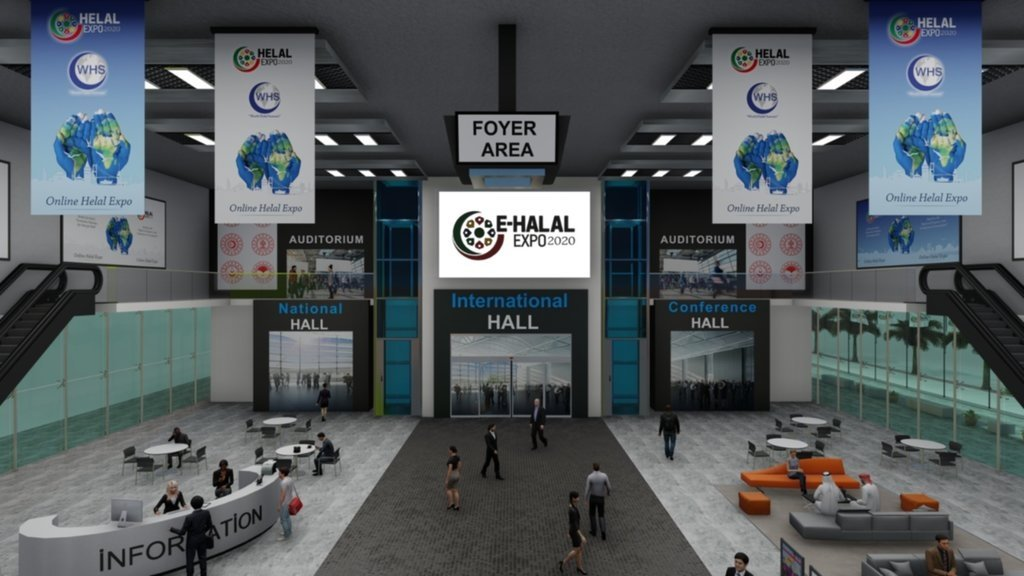 A view of the digital platform of E-Halal Expo 2020, which is taking place virtually this year due to the COVID-19 pandemic. (Courtesy of Discover Events)