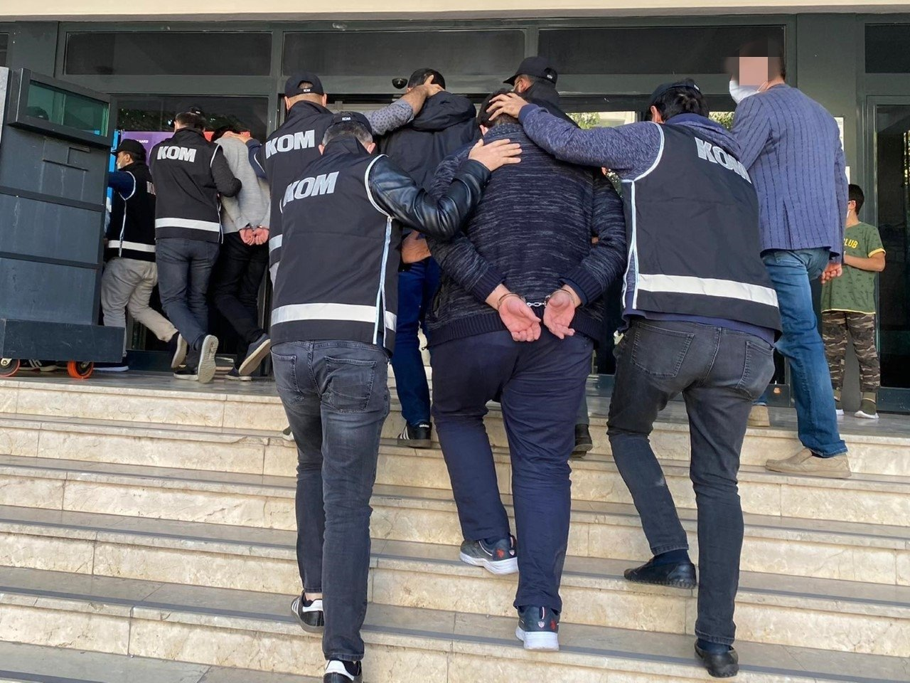 Police escort a captured FETÖ member in Malatya, eastern Turkey, Dec. 22, 2020. (IHA Photo)