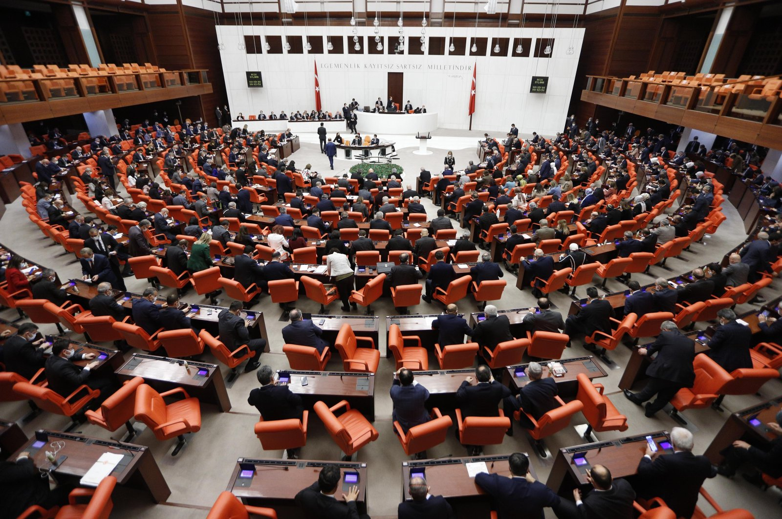 Budget negotiations are held at the Turkish Grand National Assembly in the capital Ankara, Turkey, Dec. 19, 2020. (DHA Photo)