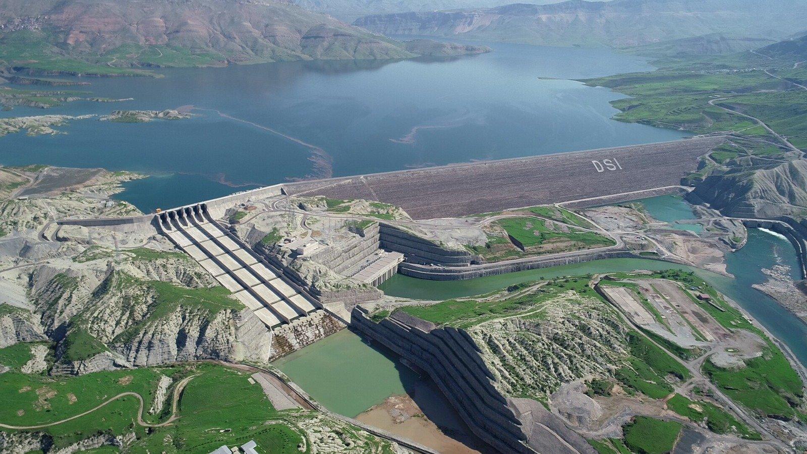 The Ilısu Dam on the Tigris, Mardin province, southeastern Turkey, Dec. 24, 2020. (AA Photo)