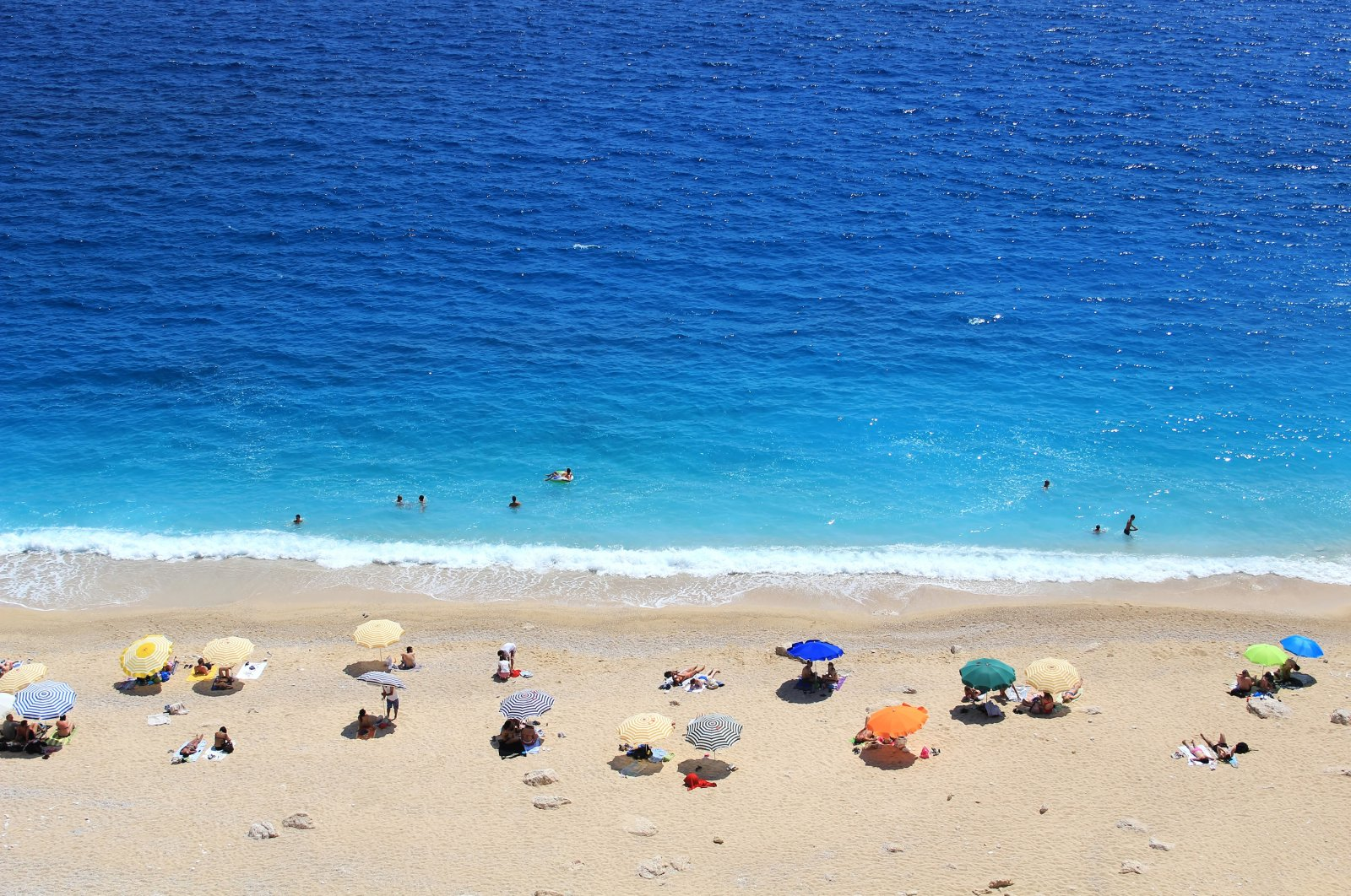 People relax at the Kaputaş beach in Antalya, southern Turkey, in this undated photo. (Shutterstock Photo)