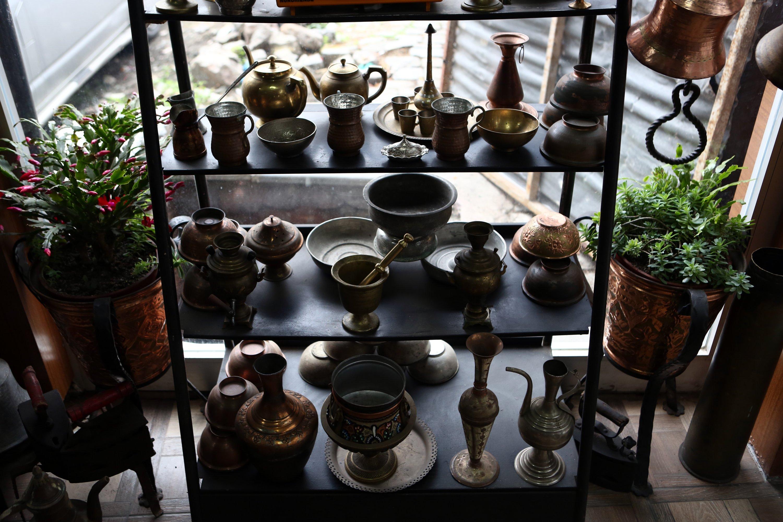 Some copperware from Ali Çavuş's workshop in Trabzon, northern Turkey, Dec. 24, 2020. (AA PHOTO)