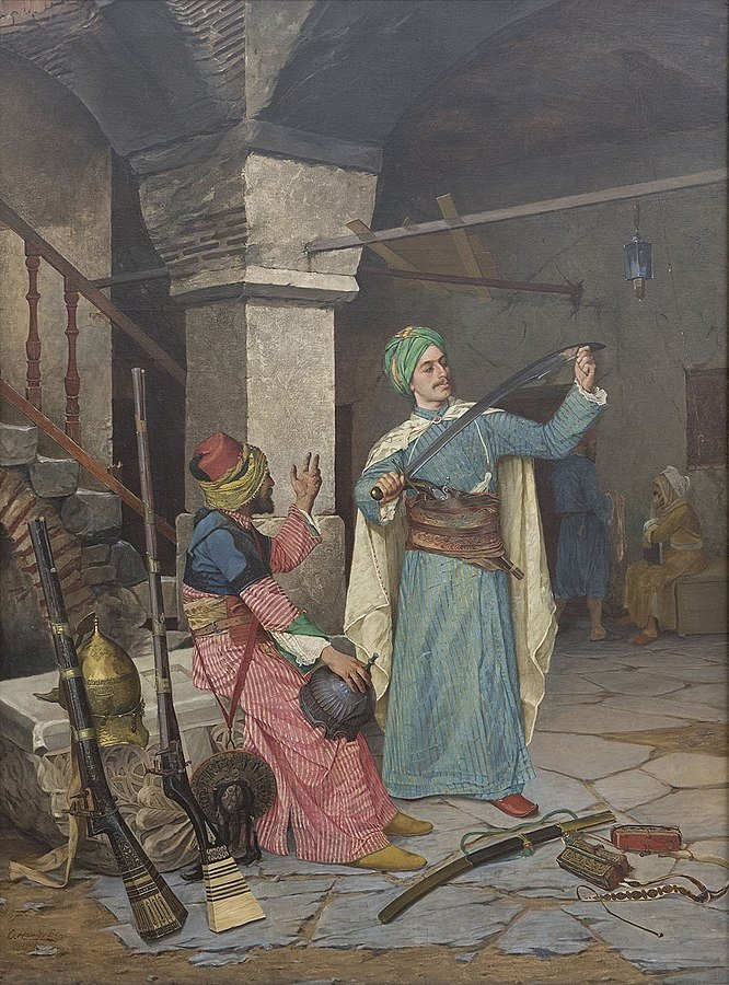 "Osman Hamdi Bey's ""Silah Taciri"" (""Gun Salesman"")."