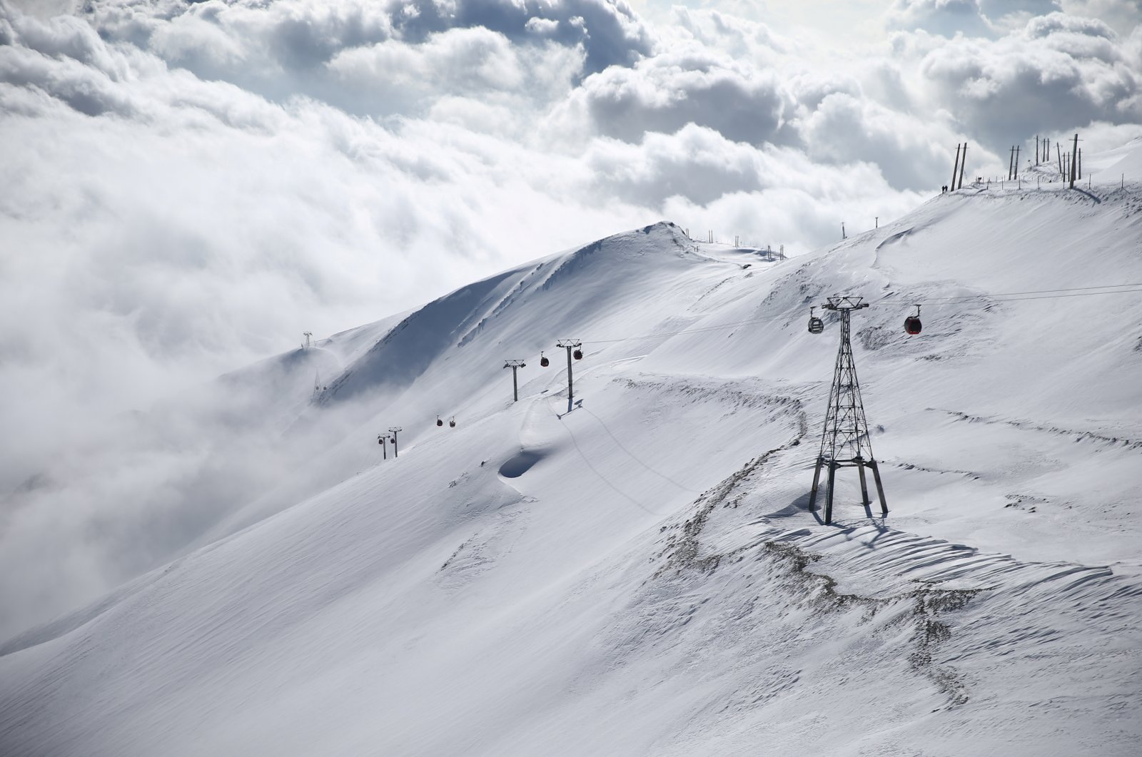 A general view shows the Tochal ski resort, north of Tehran, Iran Dec. 12, 2019. (Reuters Photo)