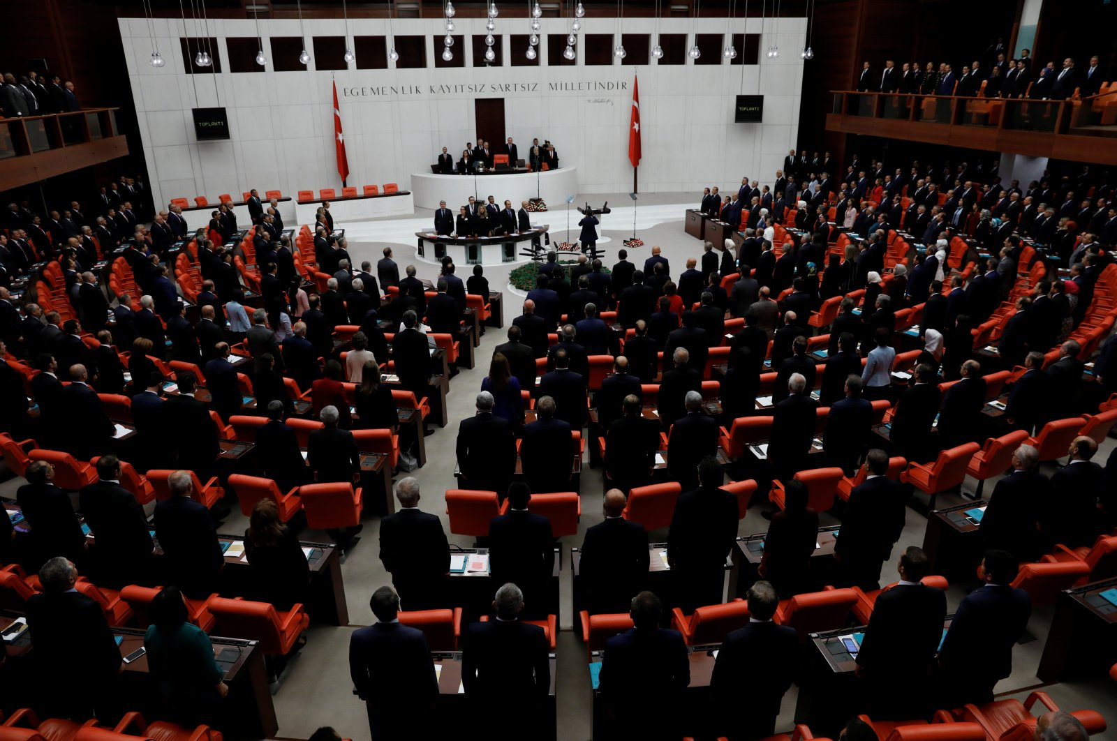 Members of parliament attend the reopening ceremony of the Turkish Parliament after the summer recess in Ankara, Turkey, Oct. 1, 2018. (Reuters File Photo)