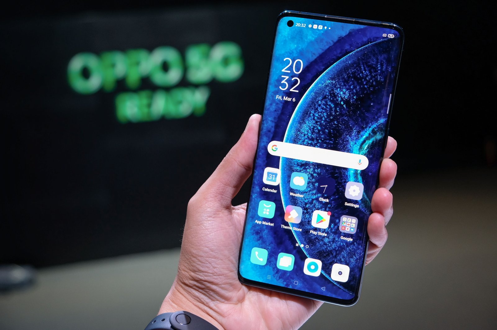 Oppo's new smartphone OPPO Find X2 Series 5G, Bangkok, Thailand, March 6, 2020. :on March 6, 2020. (Shutterstock Photo)