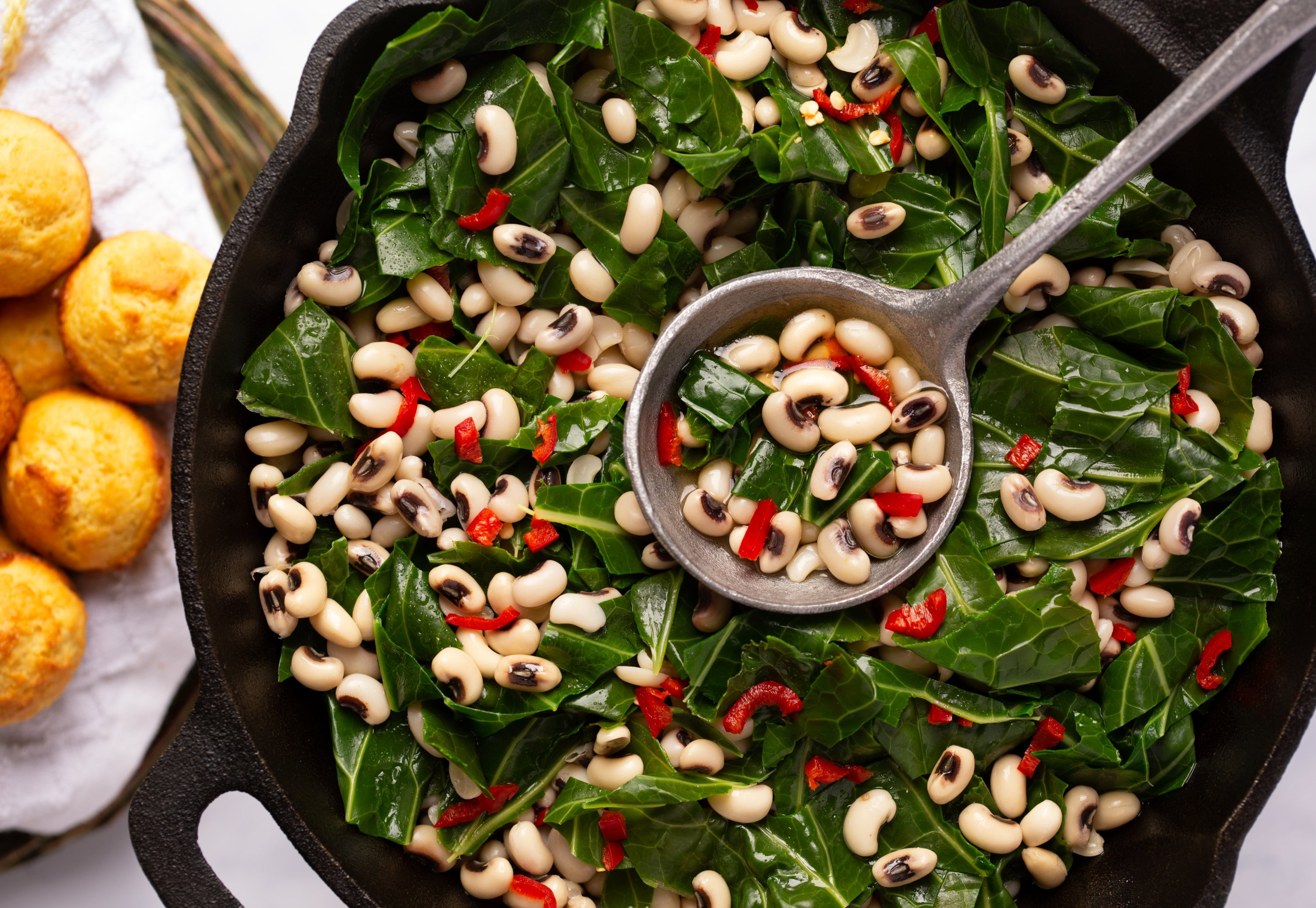 Consuming black-eyed peas and greens as the first foods eaten on New Year's Day is a custom in the U.S., more specifically the southern states. (Shutterstock photo)