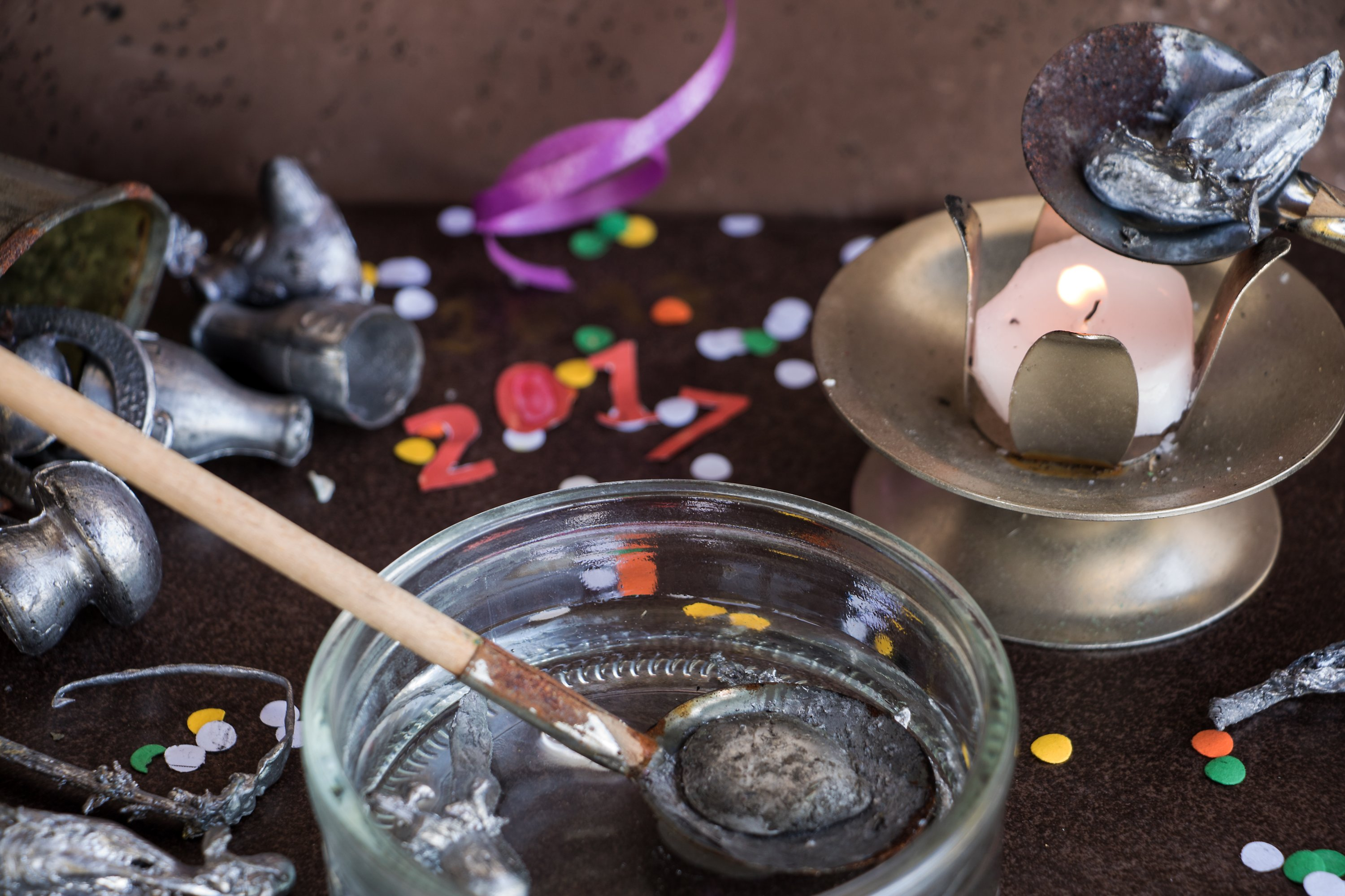 Melting lead, which is a rural tradition in Turkey, is practiced in Germany as well on New Year's Eve.  (Shutterstock photo)