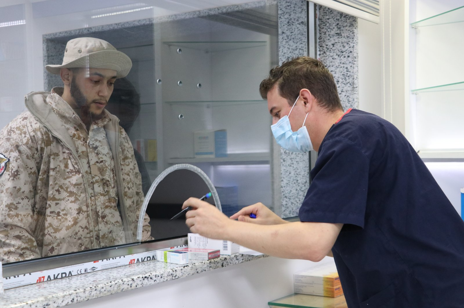 The Mitiga Military Hospital, managed by the Turkish Armed Forces in Libyan capital Tripoli, serves Libyan security forces, Dec. 26, 2020 (AA Photo)
