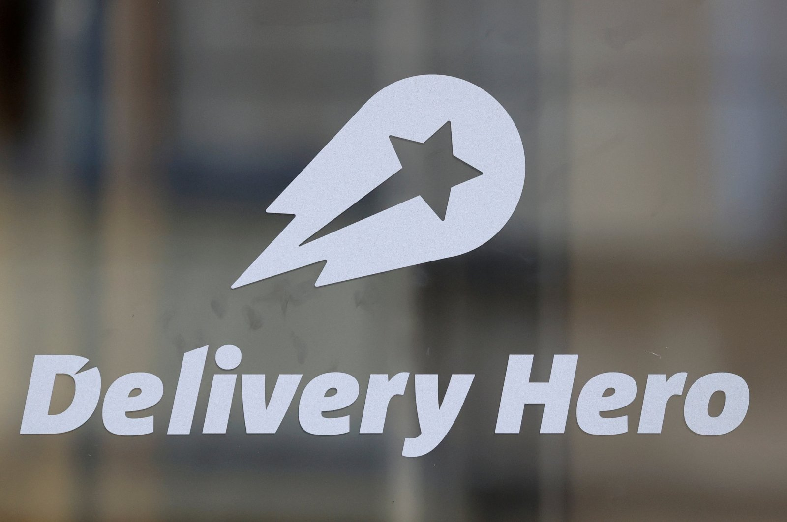 The Delivery Hero's logo is pictured at its headquarters in Berlin, Germany, Aug. 18, 2020. (Reuters Photo)