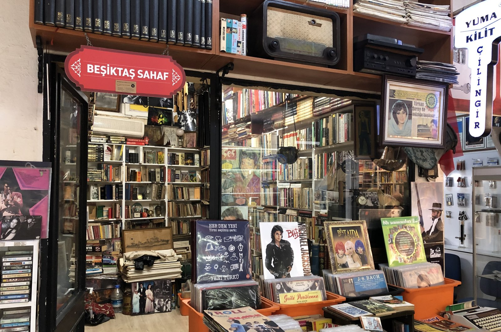 Beşiktaş Sahaf and Vinyl House is the likeliest option to visit if you are looking for a secondhand book store in the Beşiktaş district. (Photo by Matt Hanson)