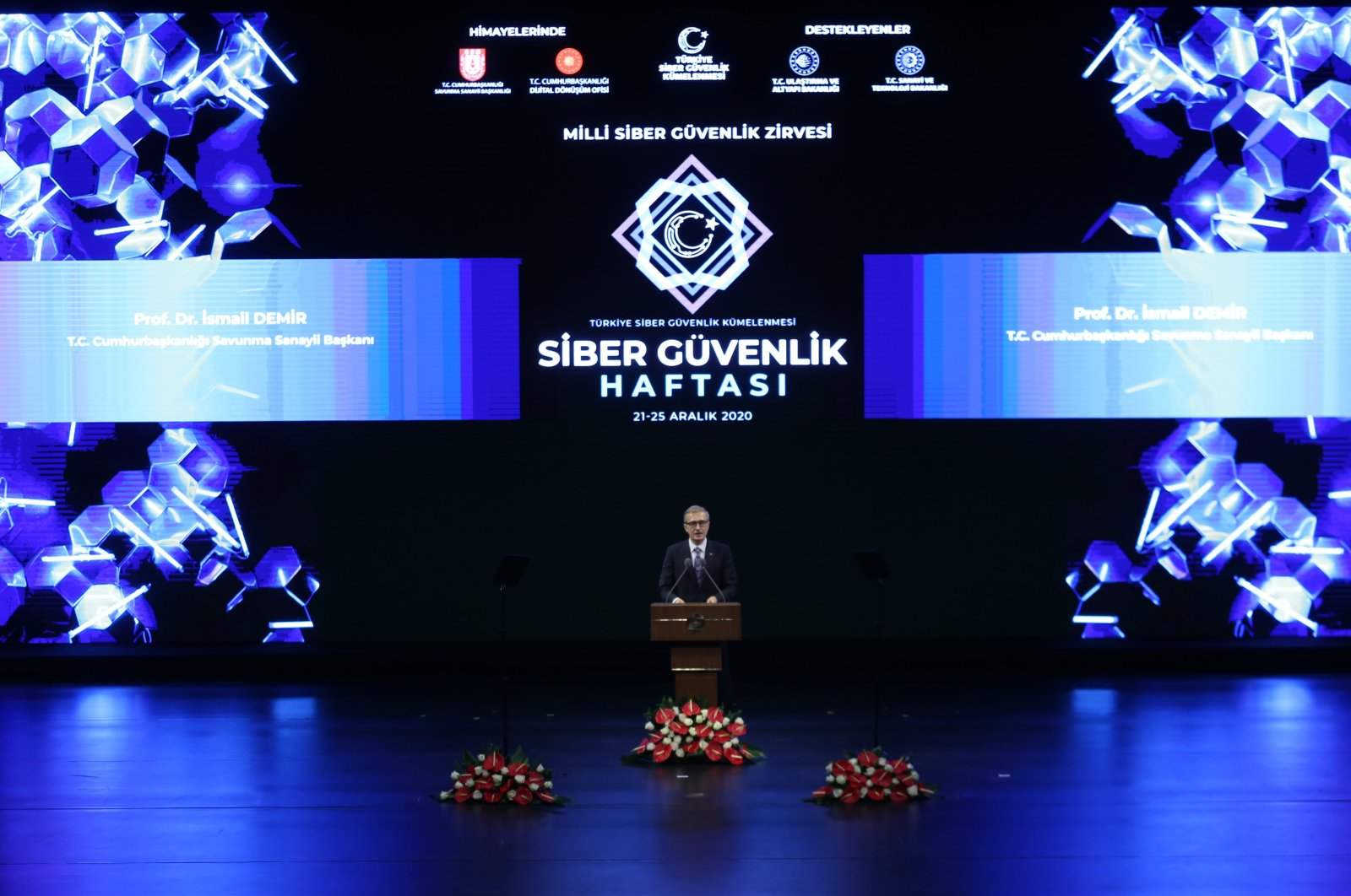 Ismail Demir, the head of the Presidency of Defense Industries (SSB), speaks at an event for Turkey's Cybersecurity Week in the capital Ankara, Dec. 21, 2020. (AA Photo)
