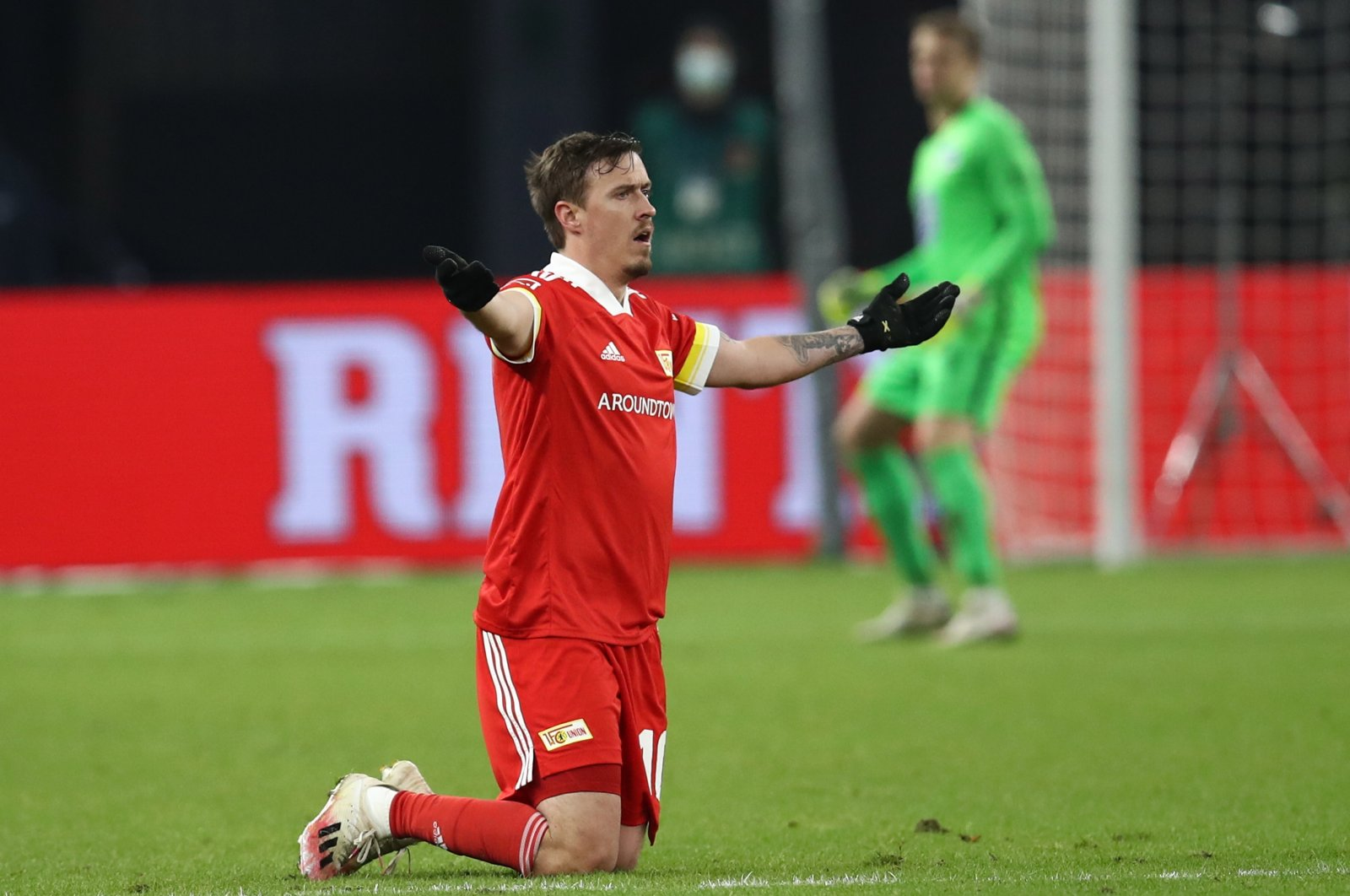 Max Kruse of Union Berlin reacts during the German Bundesliga football match between Hertha BSC and Union Berlin at Olympiastadion in Berlin, Germany, Dec. 4, 2020. (EPA Photo)