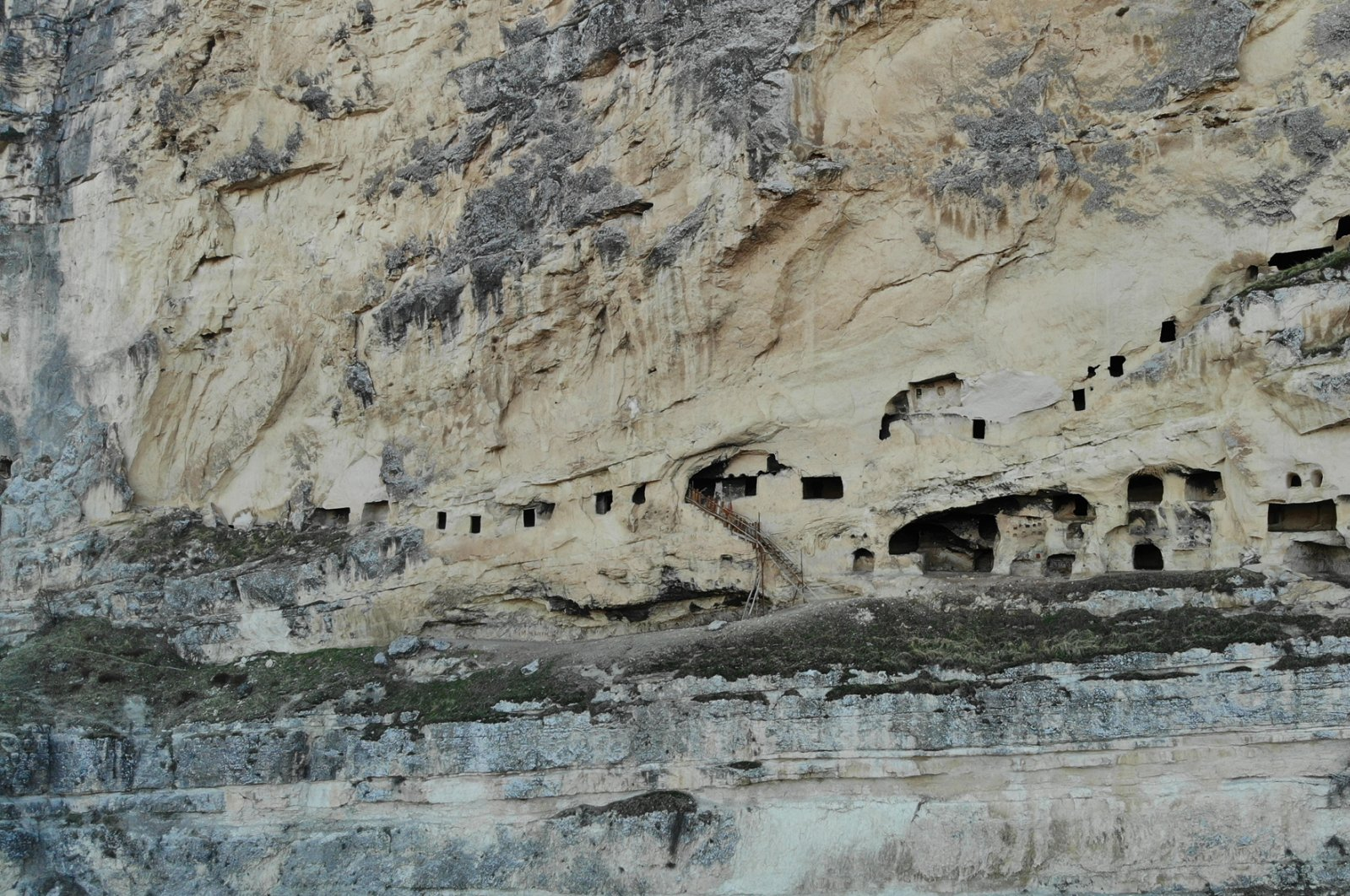 The cave rooms photographed in Tunceli, eastern Turkey, Dec. 29, 2020. (DHA Photo)