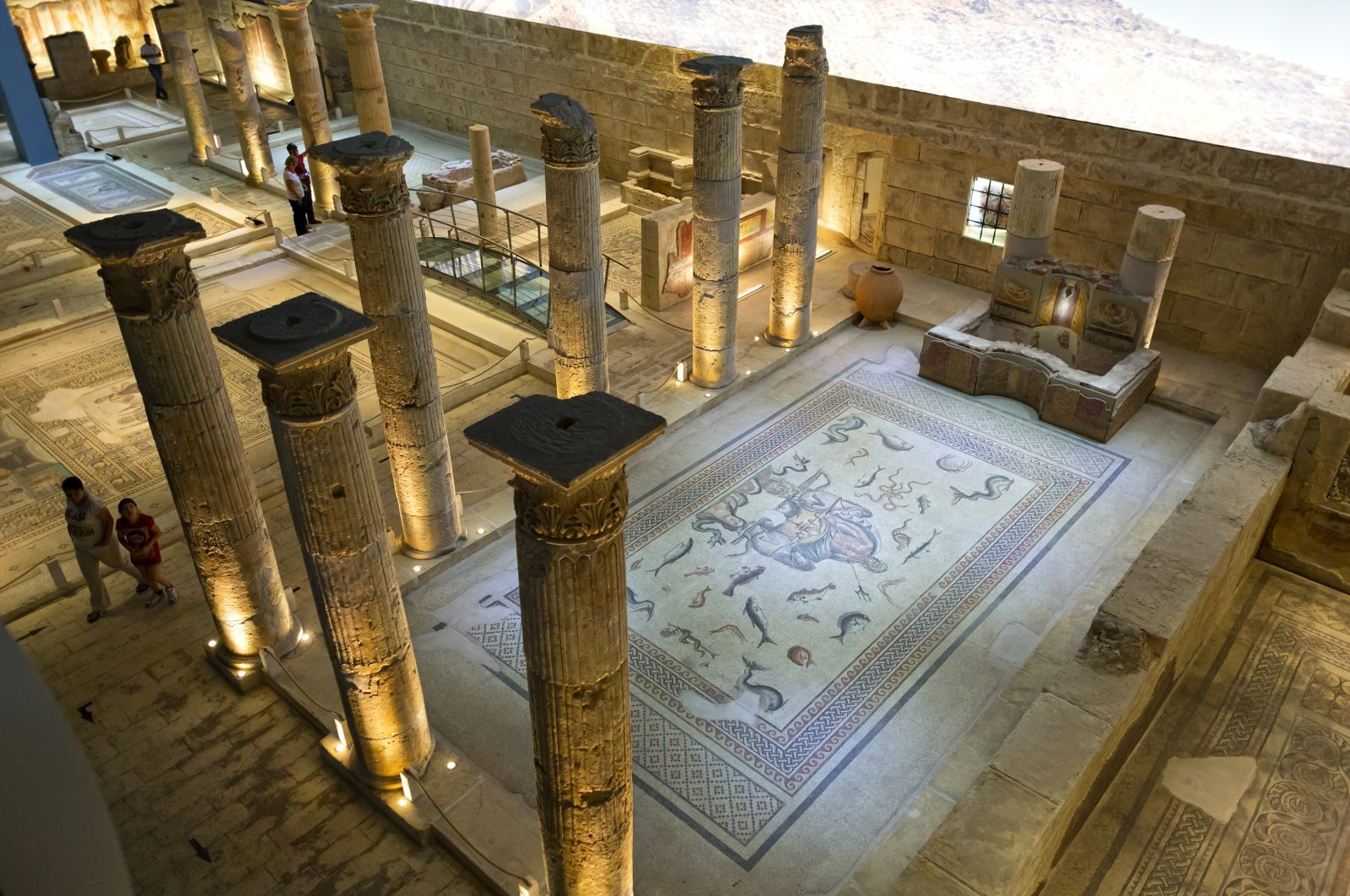 Zeugma Mosaic Museum in Gaziantep can be visited on the virtual museum platform launched by the Culture and Tourism Ministry. (Shutterstock Photo)