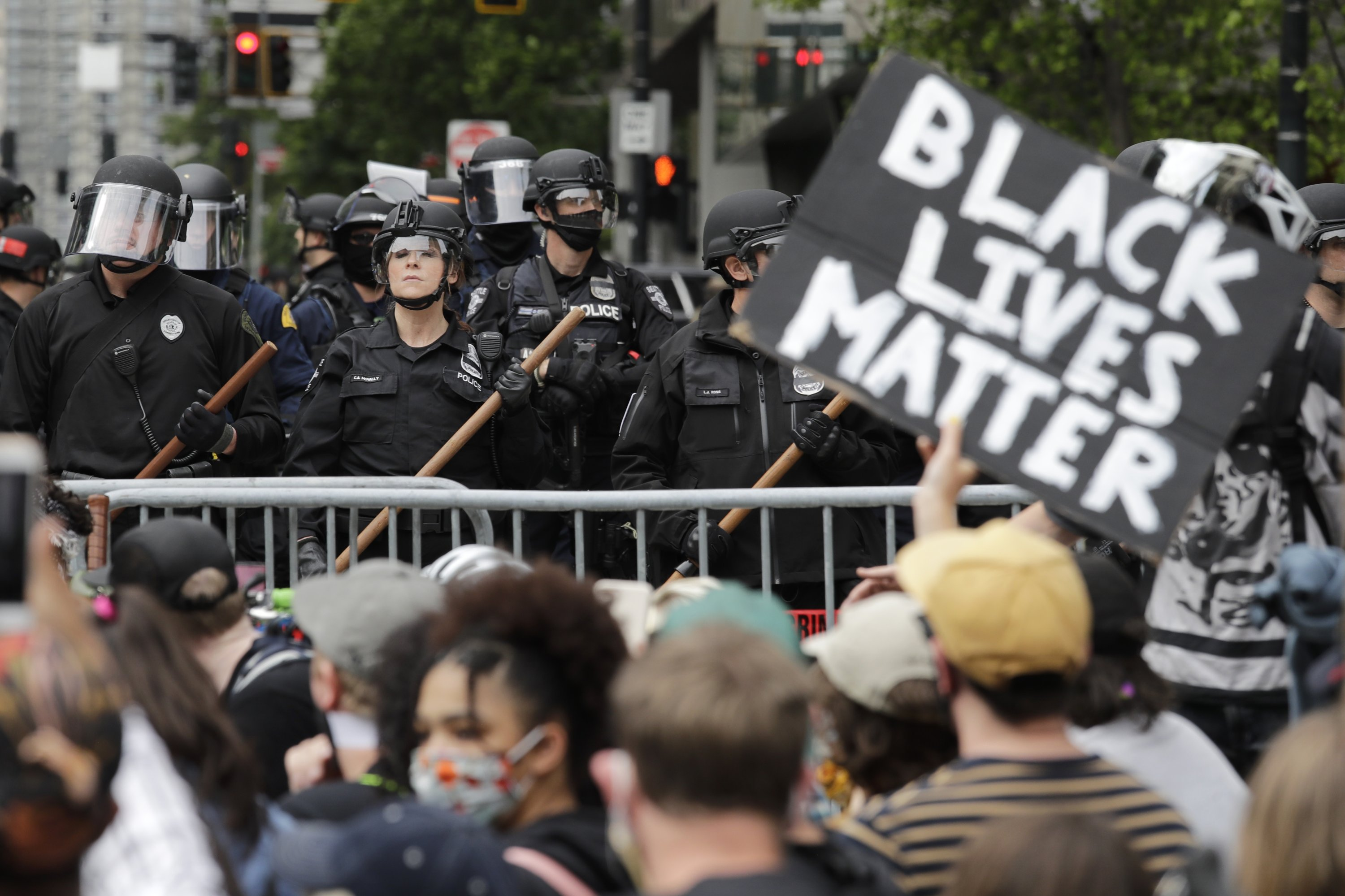 Protests in Seattle over the killing of Floyd were among Washington state's top stories for 2020. (AP Photo)