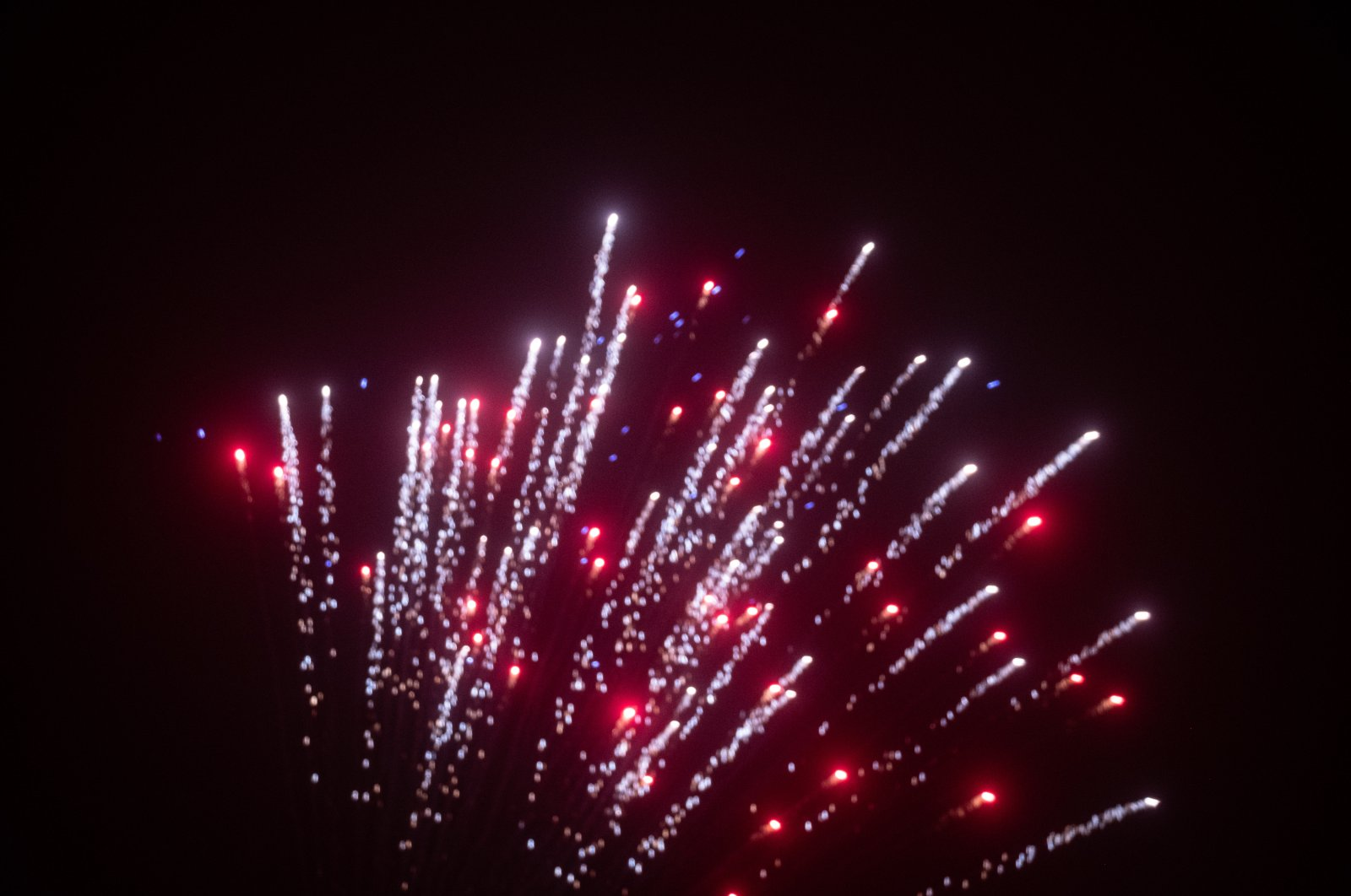 Fireworks illuminate the night sky in Aachen, Germany, Jan. 1, 2021. (Reuters Photo)