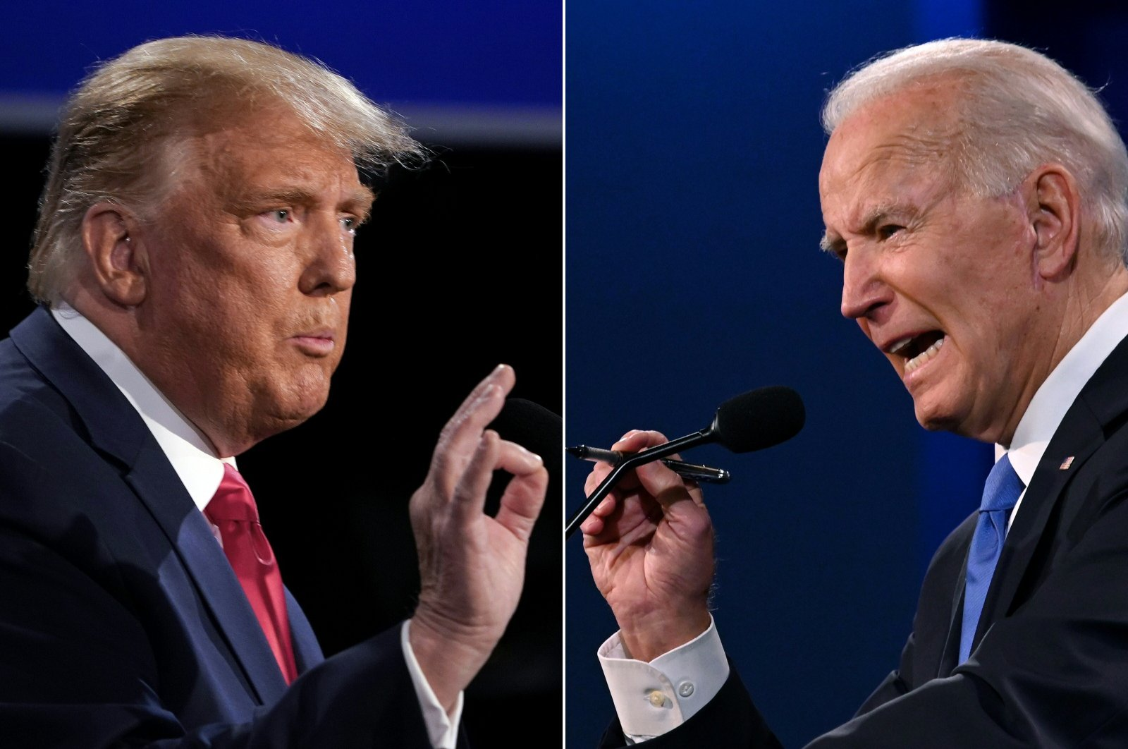 A file combination of pictures showing U.S. President Donald Trump (L) and President-elect Joe Biden. (AFP Photo)